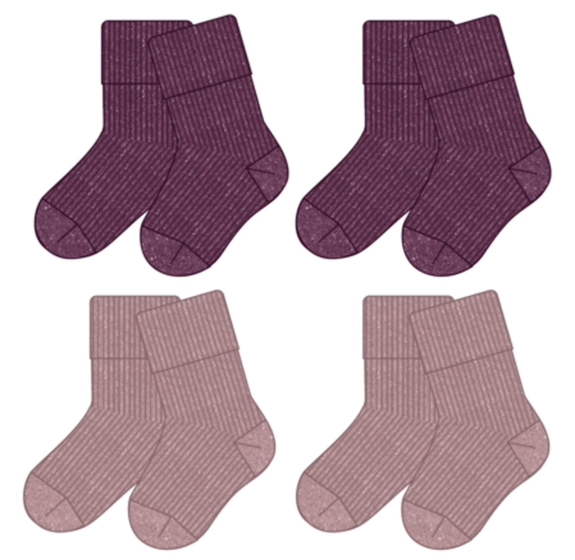 NAME IT Kojinės 'FROSIN' slyvų spalva / rausvai violetinė spalva