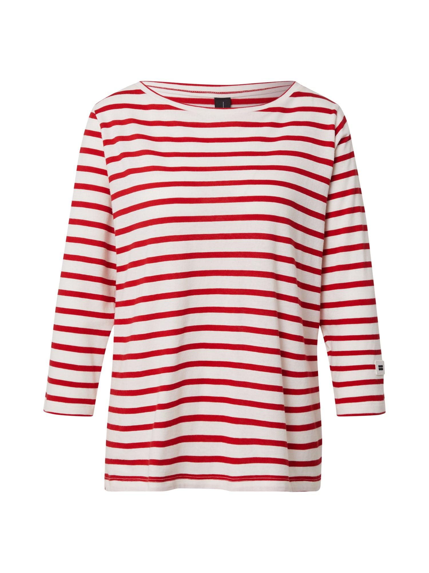 10Days Marškinėliai raudona / nebalintos drobės spalva