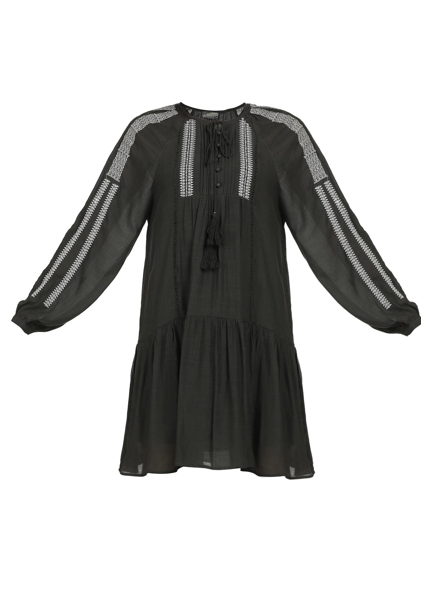 DreiMaster Vintage Palaidinės tipo suknelė balta / purvo spalva
