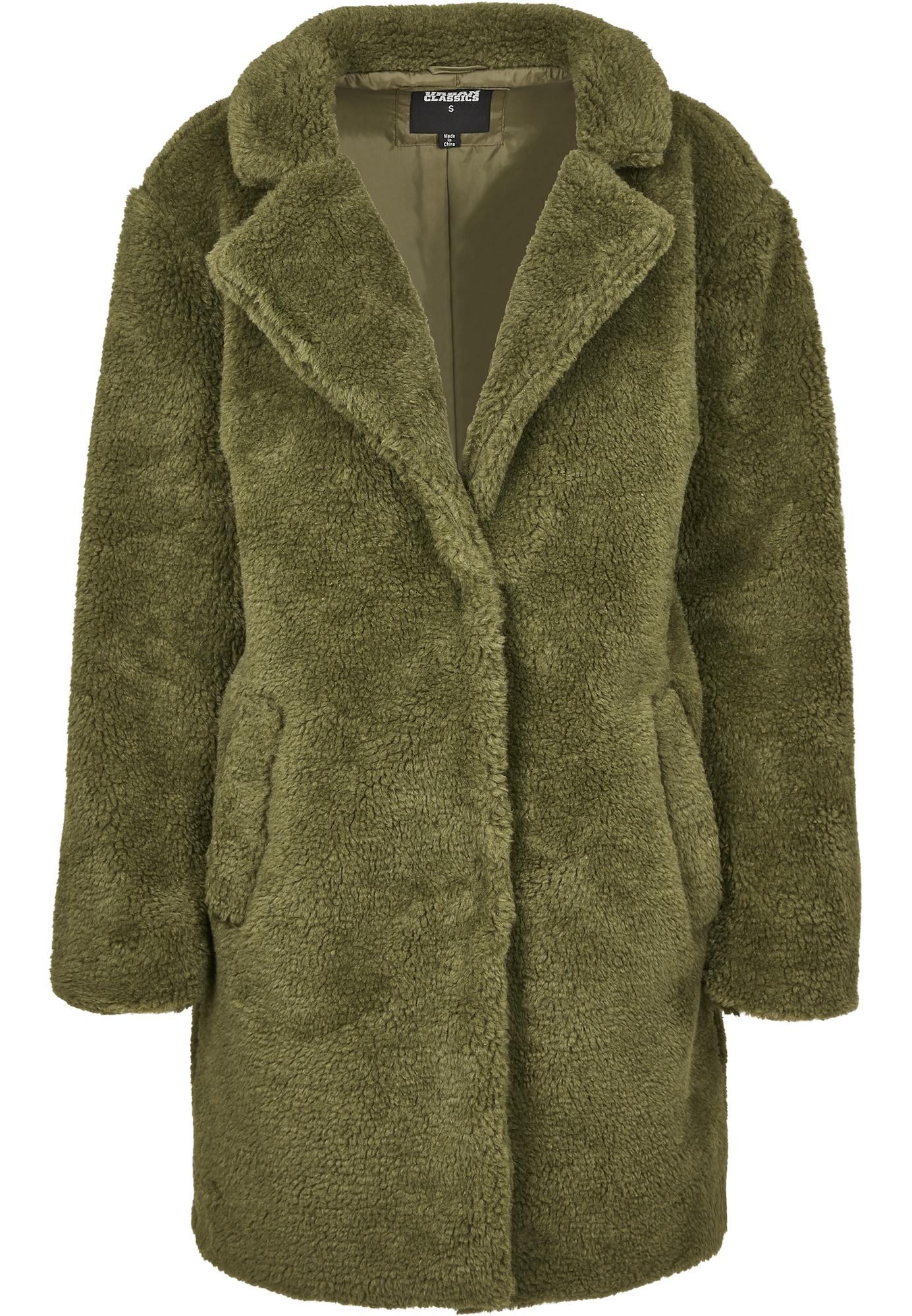 Urban Classics Zimní kabát 'Sherpa'  zelená