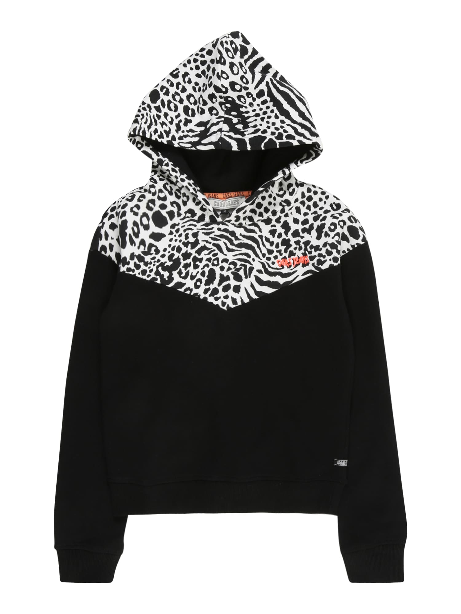 Cars Jeans Megztinis be užsegimo juoda / balta