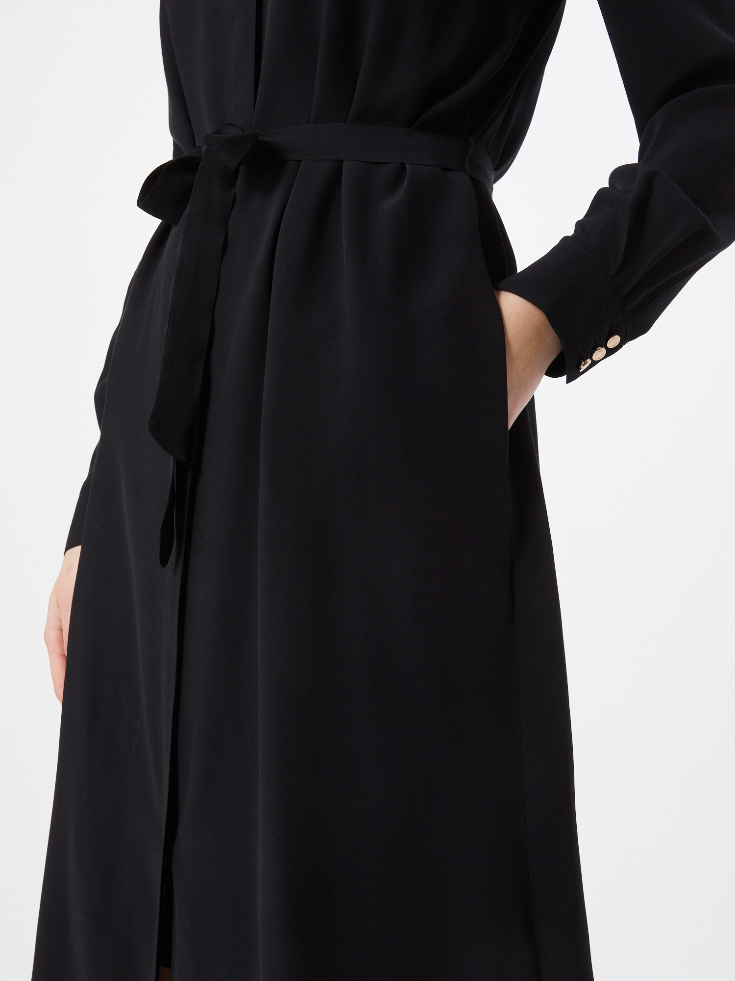 Esprit Collection Košeľové šaty  čierna.