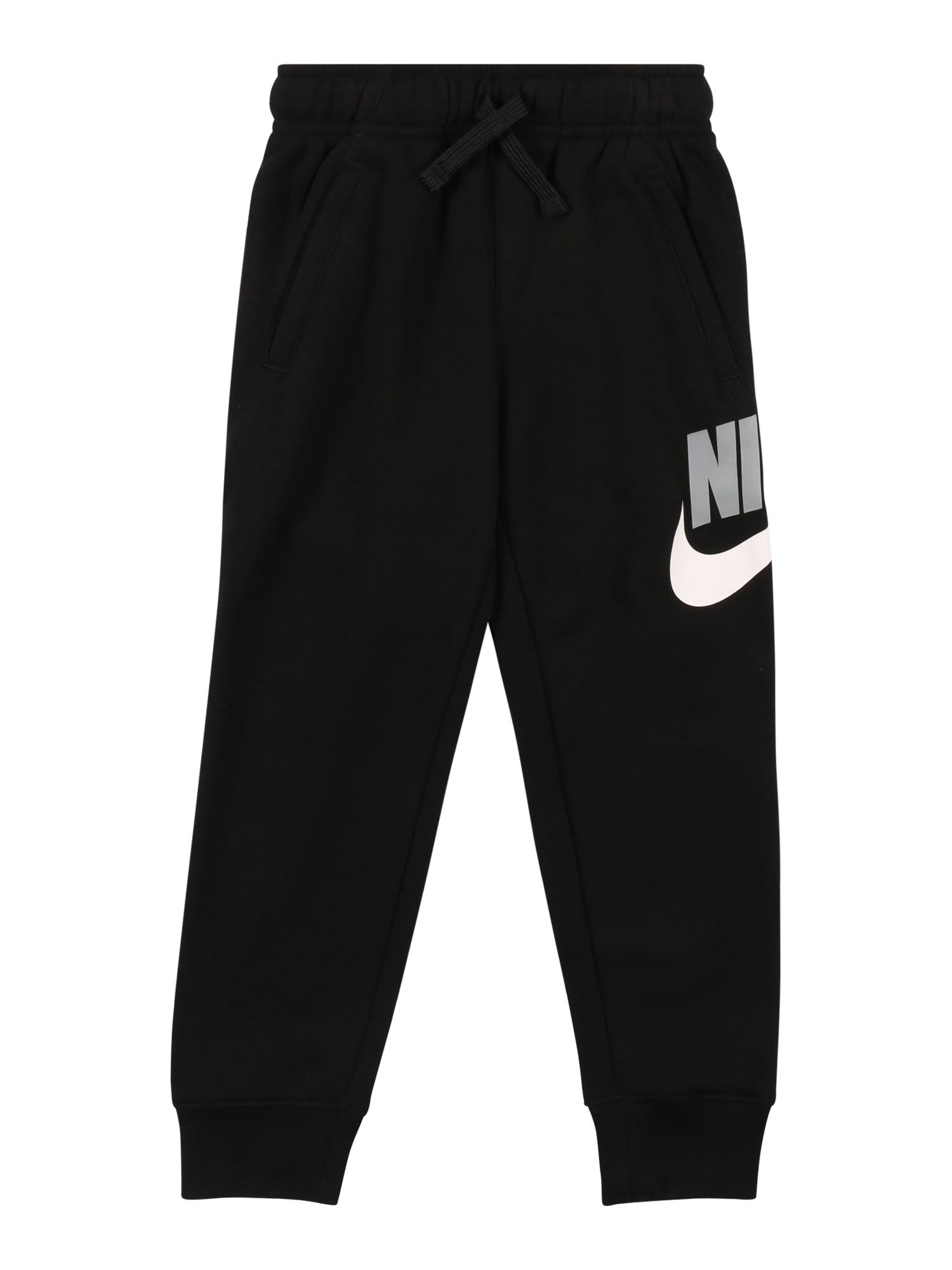 Nike Sportswear Kelnės balta / juoda / pilka