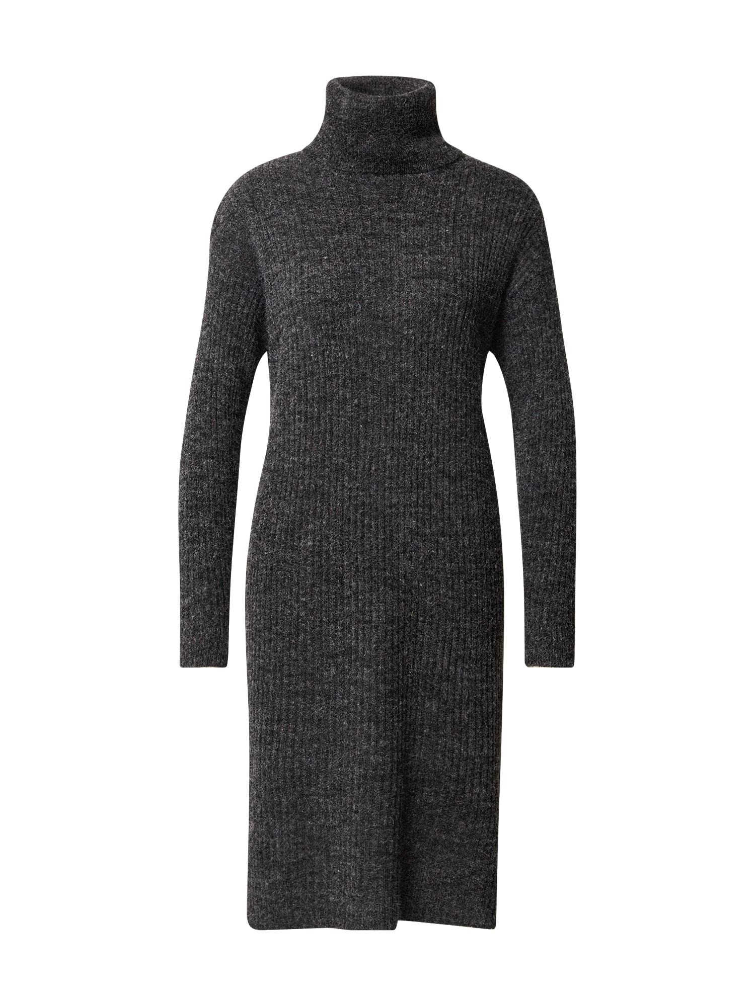 ICHI Úpletové šaty 'IHNOVO DR3'  tmavě šedá