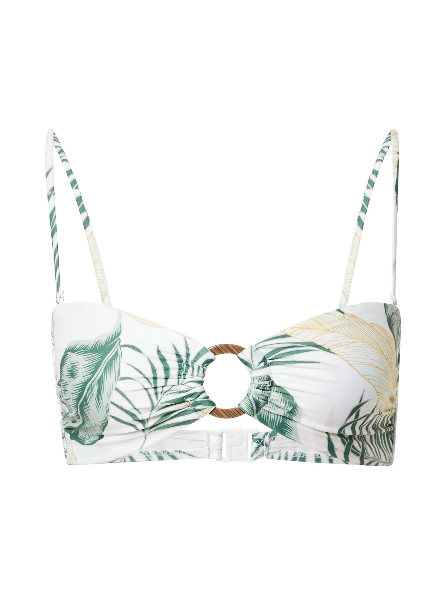 RIP CURL Bikinio viršutinė dalis balta / žalia / smėlio spalva