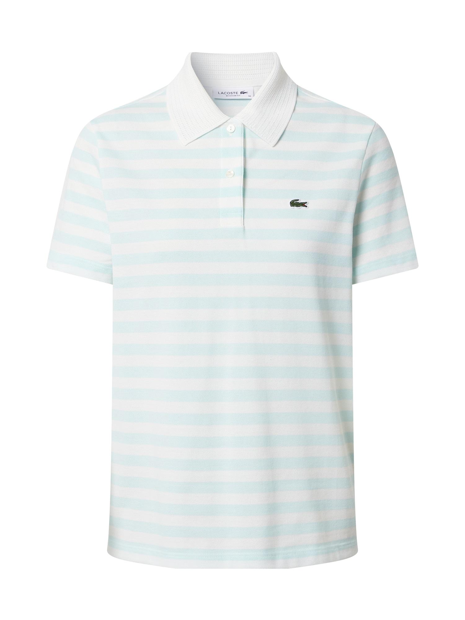 LACOSTE Marškinėliai balta / pastelinė mėlyna