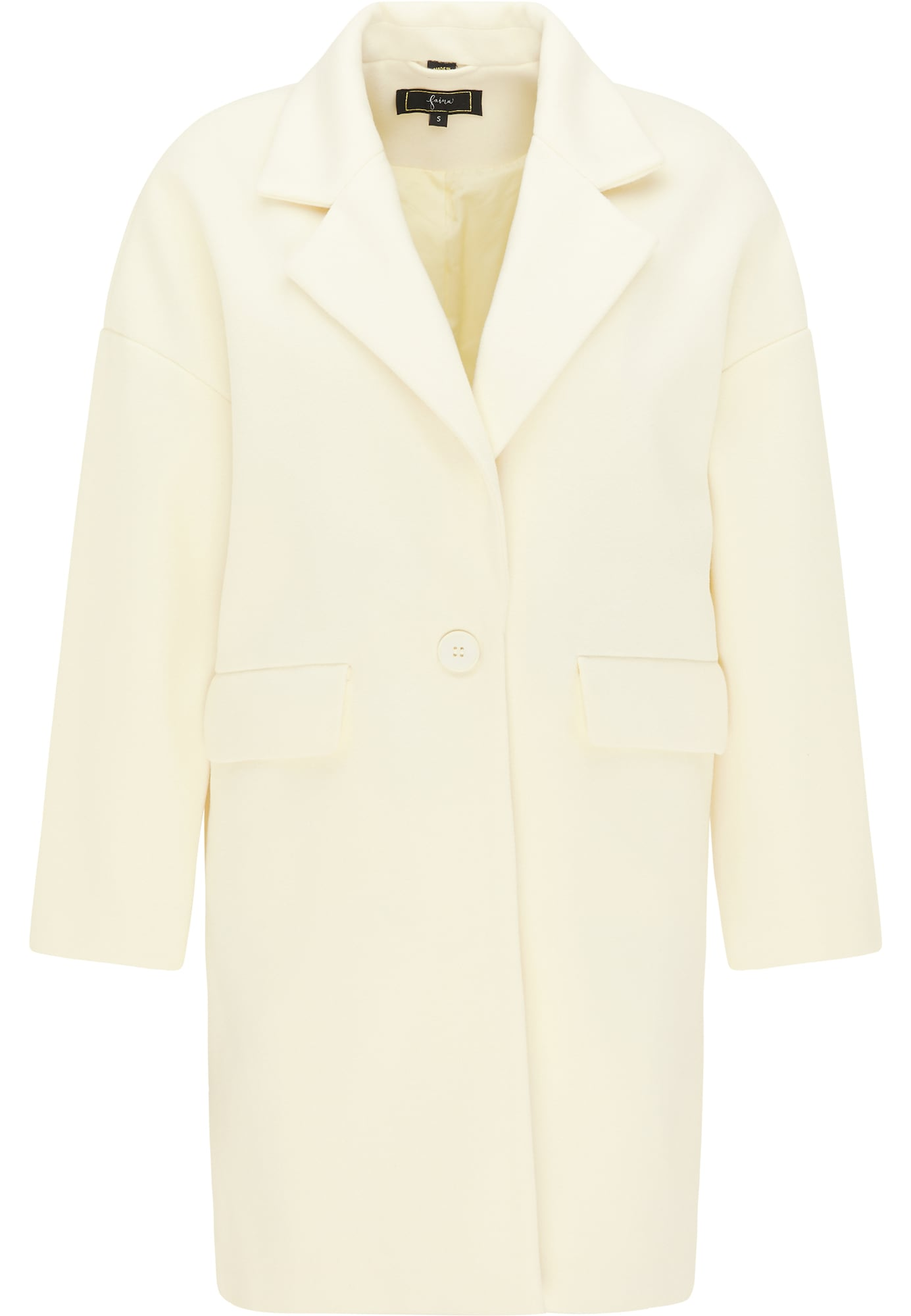 faina Demisezoninis paltas natūrali balta