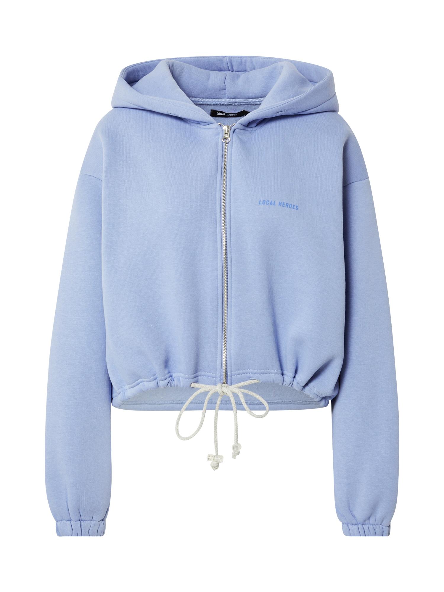 LOCAL HEROES Džemperis mėlyna / mėlyna dūmų spalva / balta