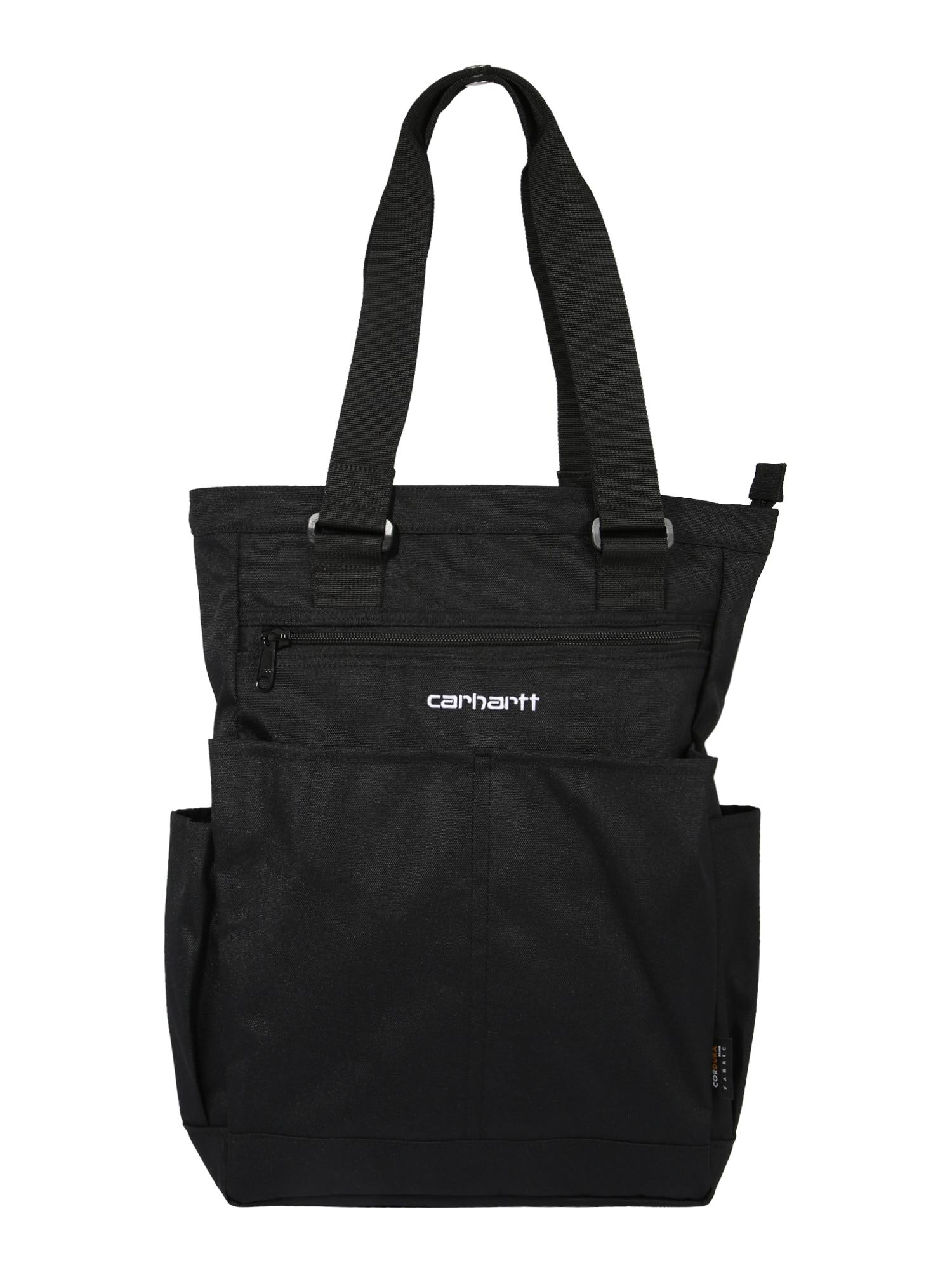 Carhartt WIP Pirkinių krepšys 'Payton' balta / juoda