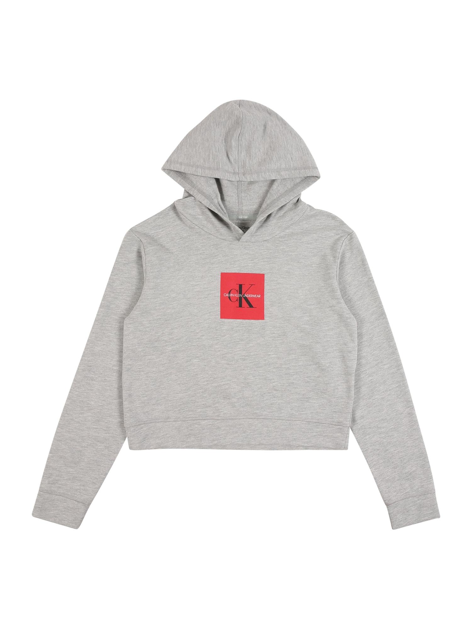 Calvin Klein Underwear Megztinis be užsegimo pilka / melionų spalva / juoda / balta