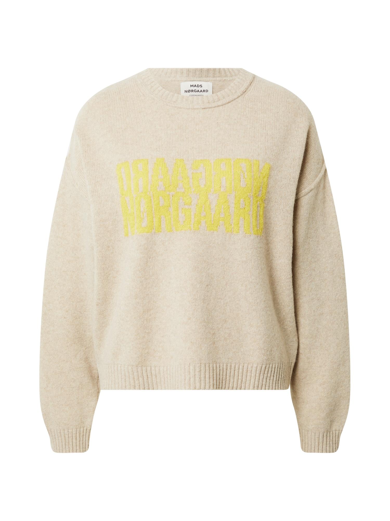 MADS NORGAARD COPENHAGEN Megztinis smėlio / geltona