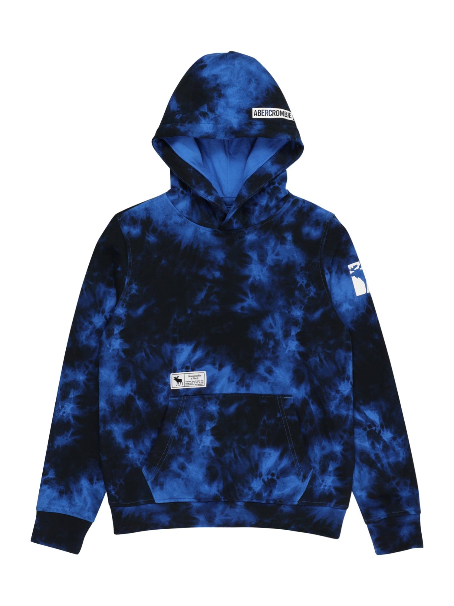 Abercrombie & Fitch Megztinis be užsegimo 'CHAIN' mėlyna / nakties mėlyna