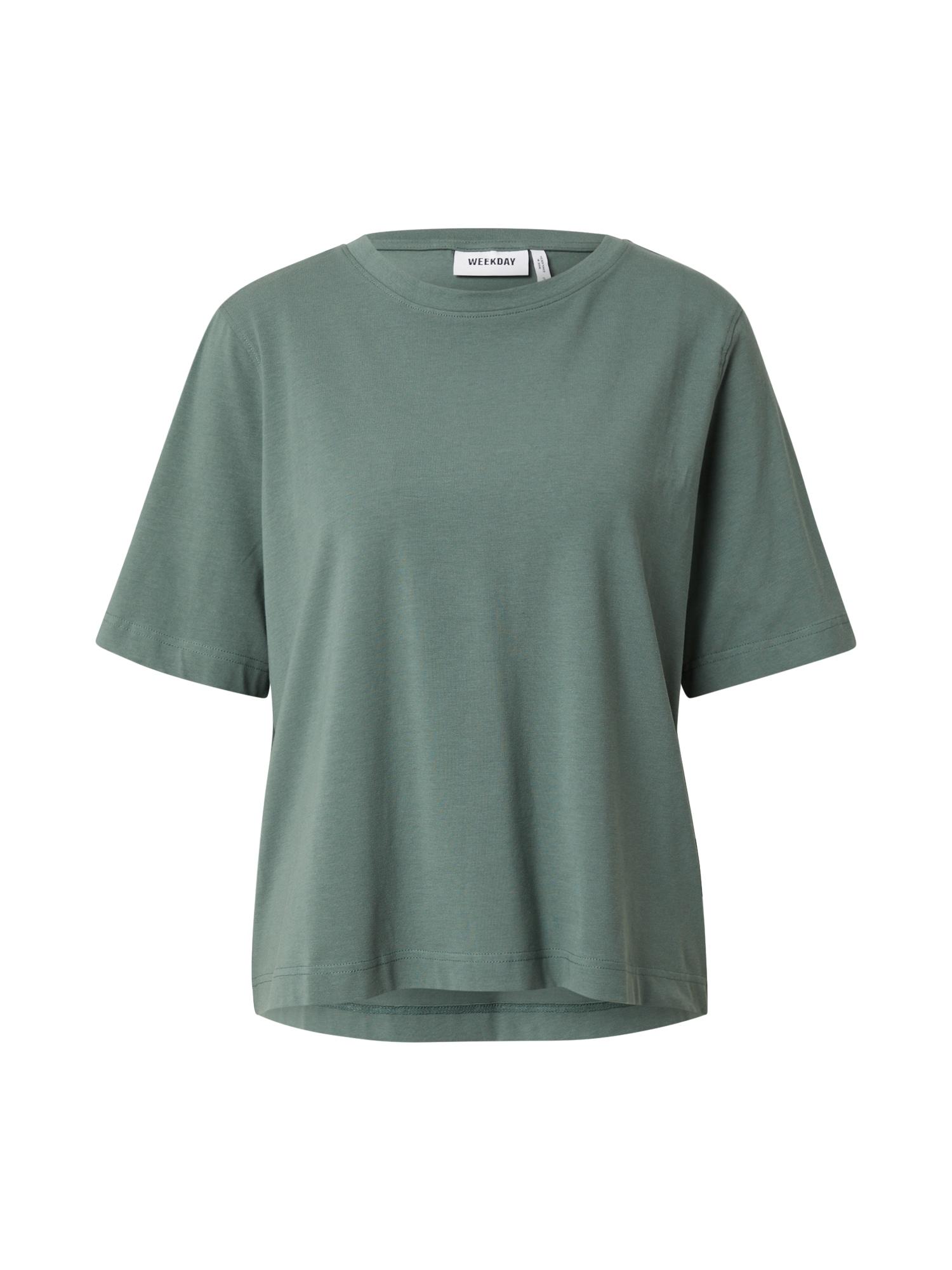 WEEKDAY Tričko  pastelově zelená