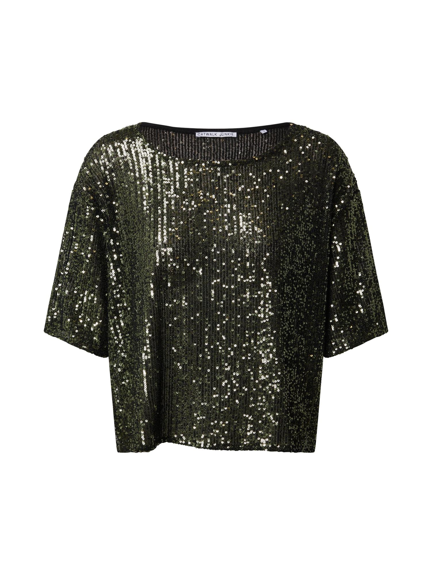 CATWALK JUNKIE Marškinėliai žalia