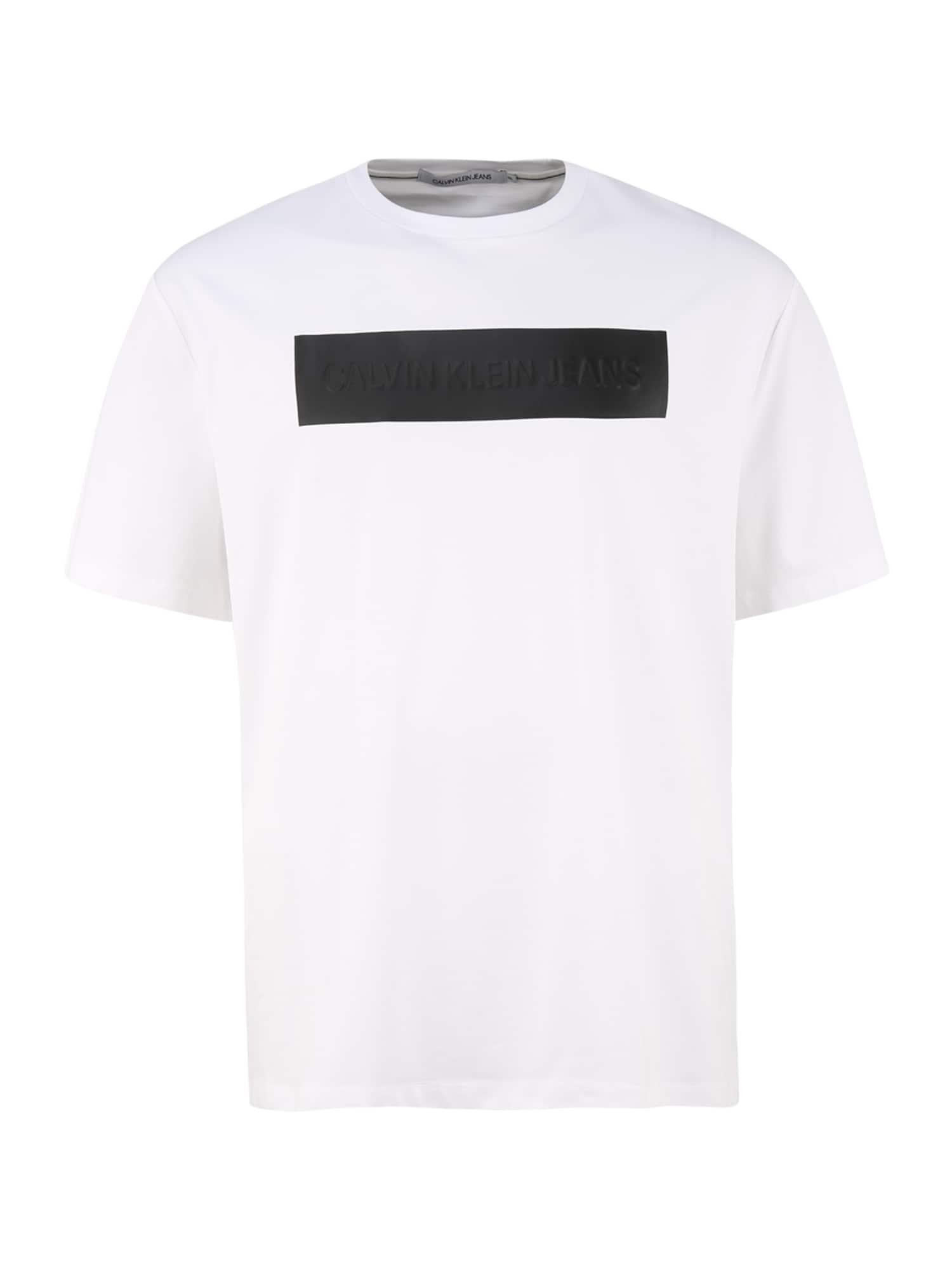 Calvin Klein Jeans Plus Marškinėliai balkšva / juoda