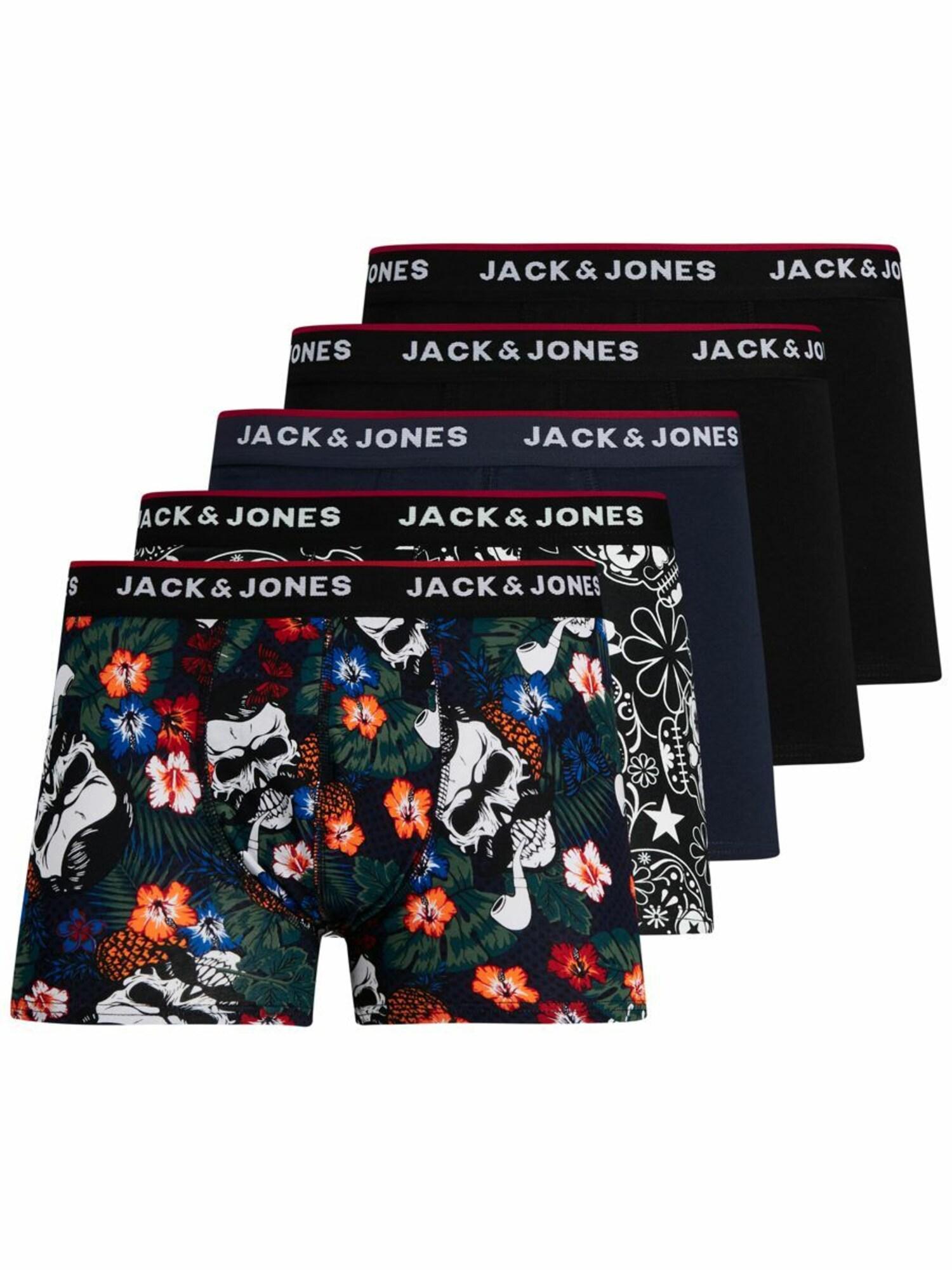 JACK & JONES Boxerky  černá / mix barev / námořnická modř