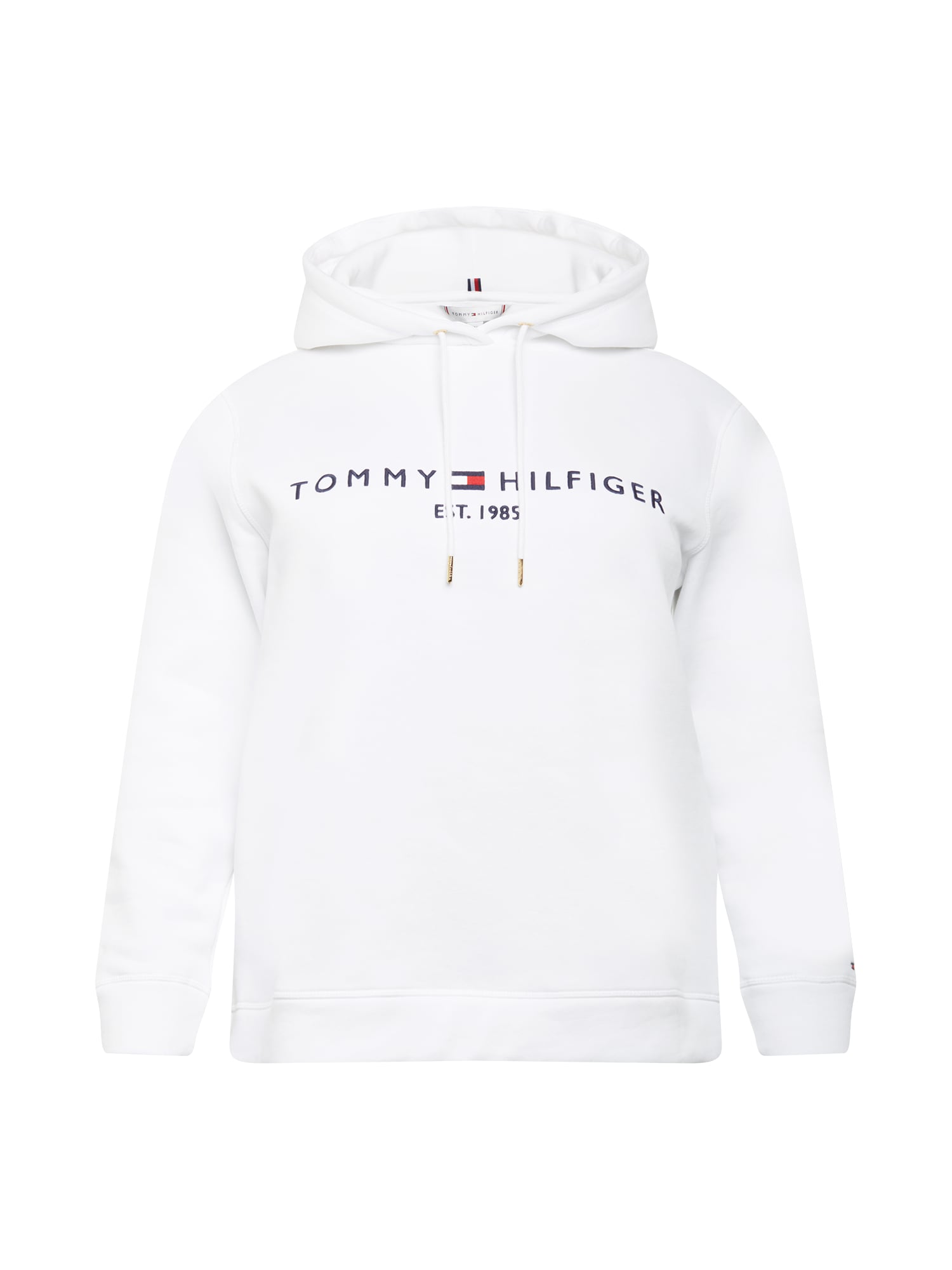 Tommy Hilfiger Curve Megztinis be užsegimo balta / tamsiai mėlyna / raudona