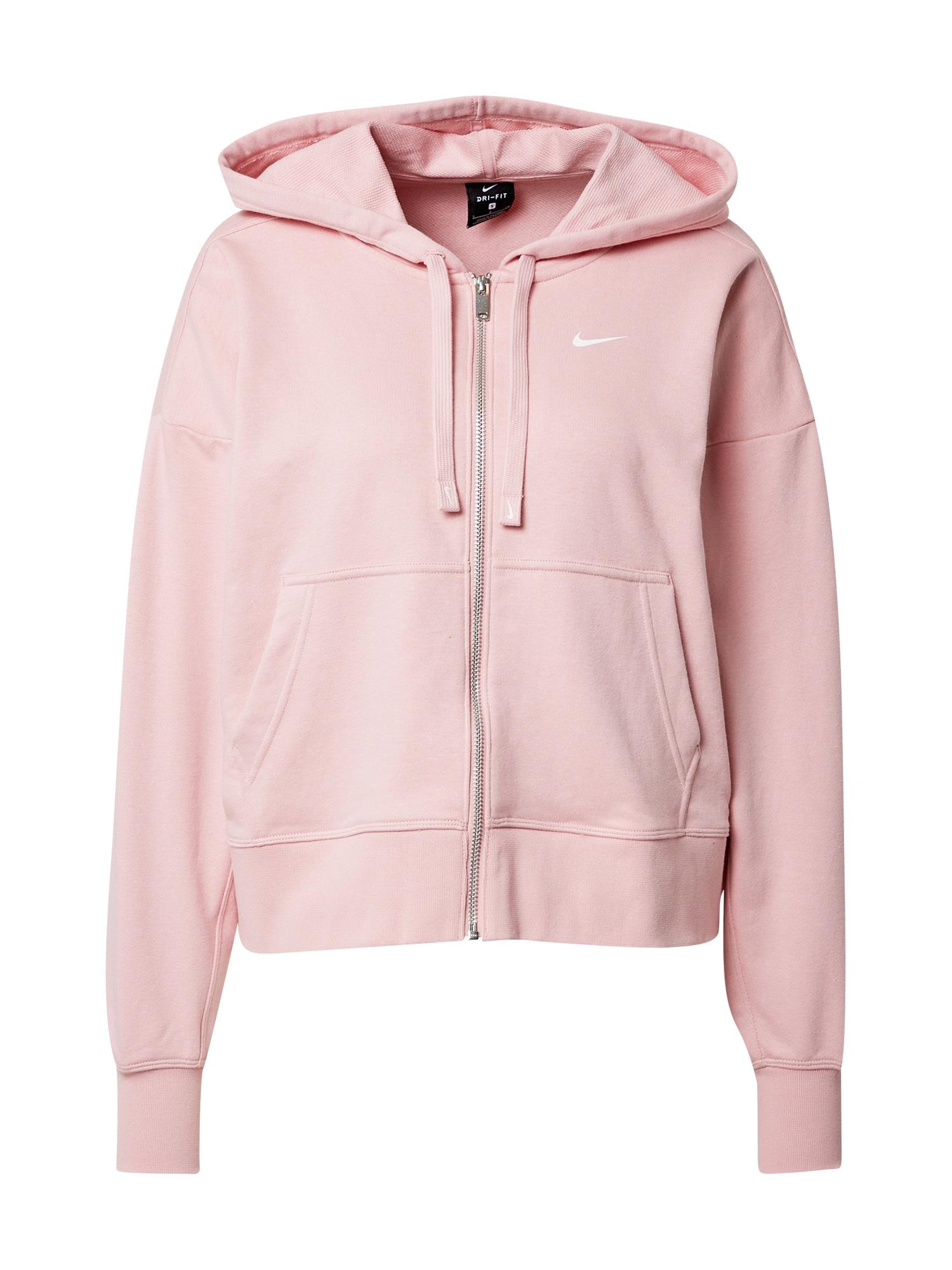 NIKE Sportinis džemperis ryškiai rožinė spalva / balta