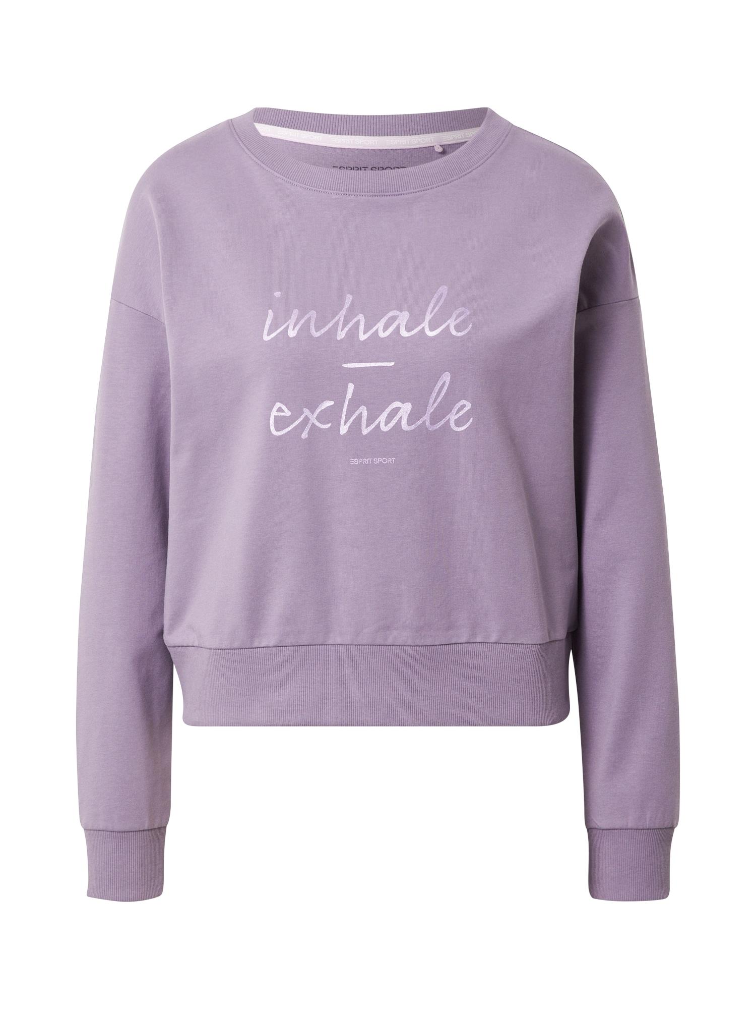 ESPRIT SPORT Sportinio tipo megztinis rausvai violetinė spalva / balta
