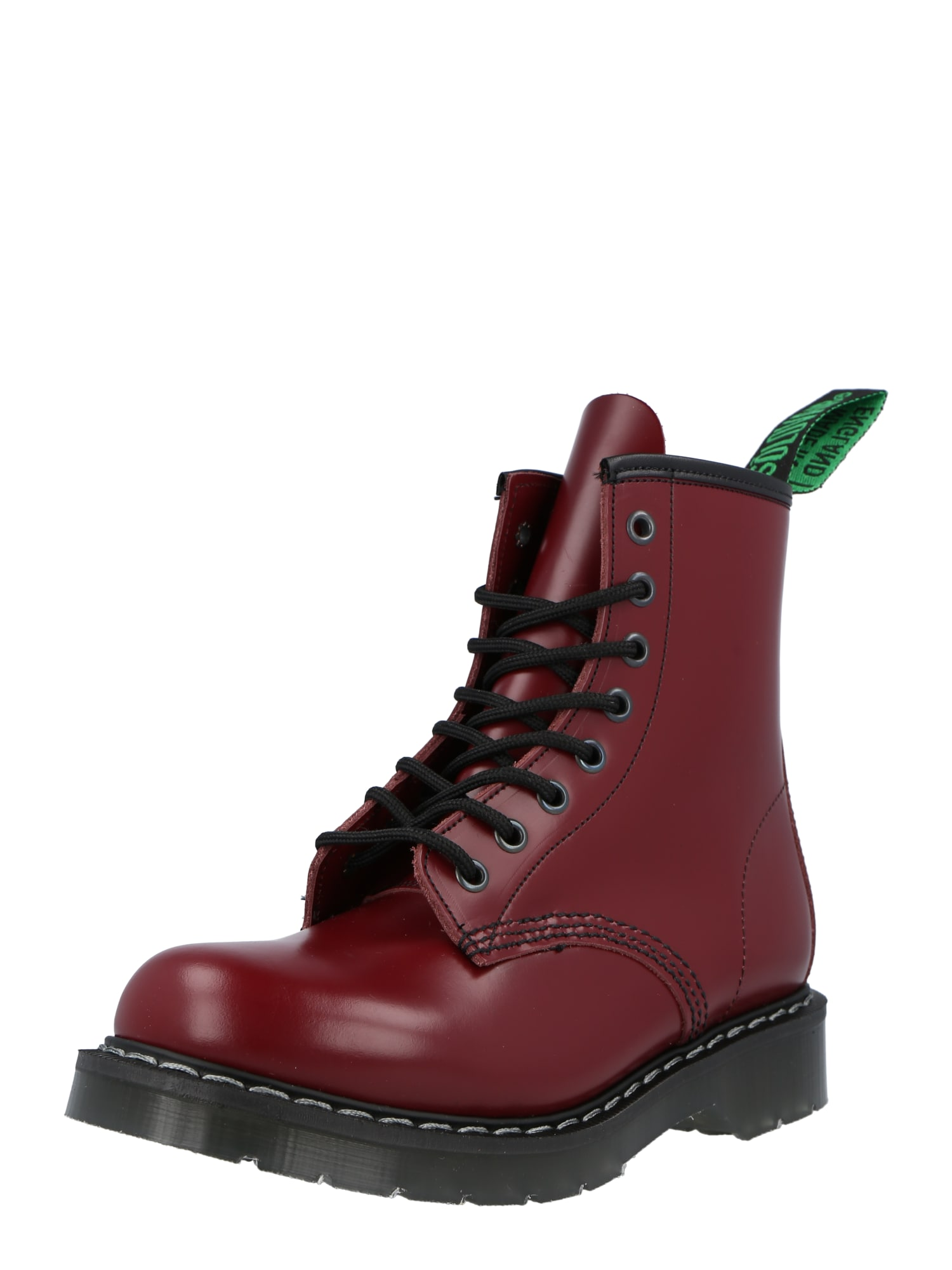 Solovair Suvarstomieji kulkšnis dengiantys batai vyšninė spalva