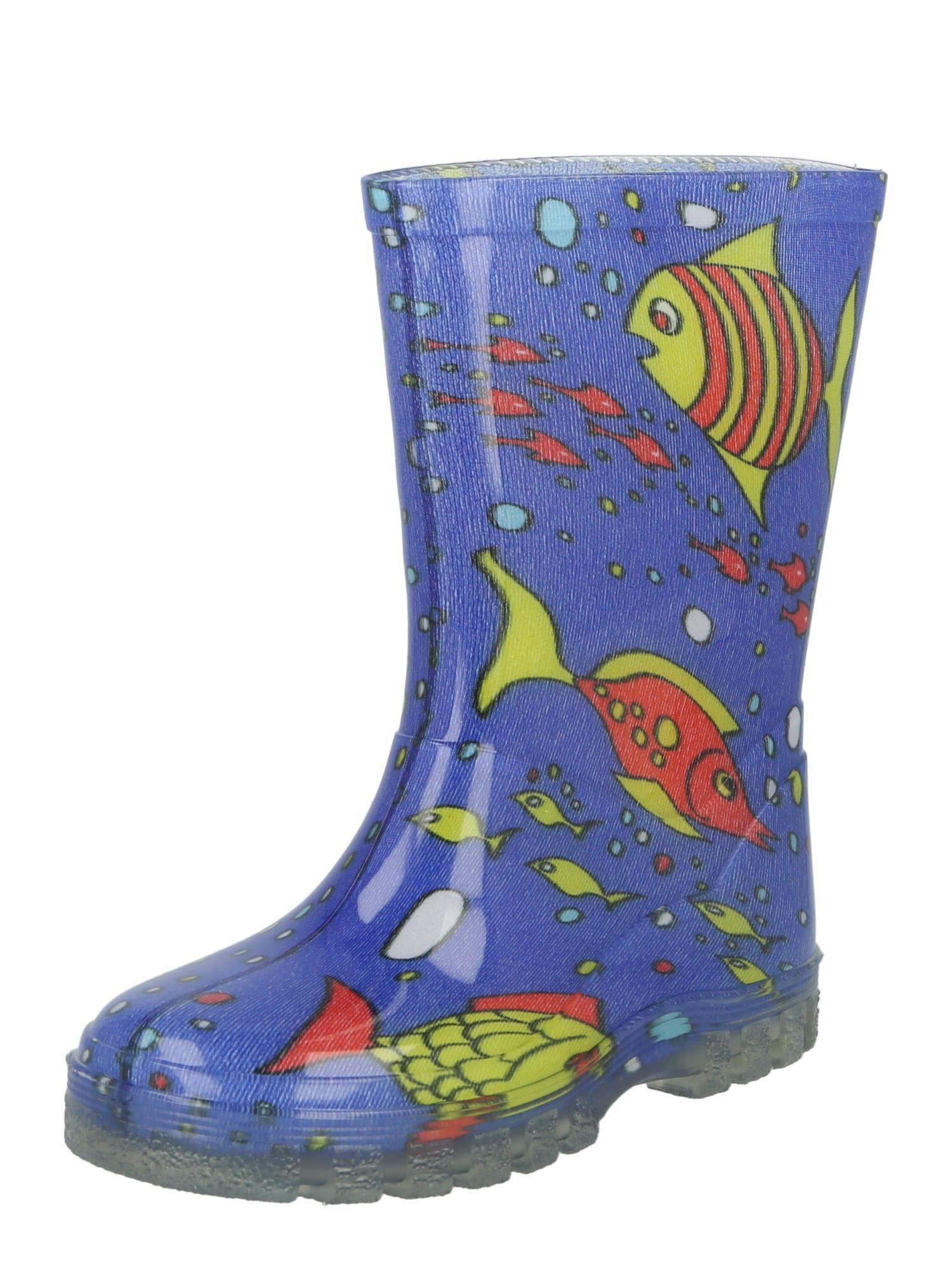 BECK Guminiai batai tamsiai mėlyna / šviesiai mėlyna / raudona / geltona / juoda