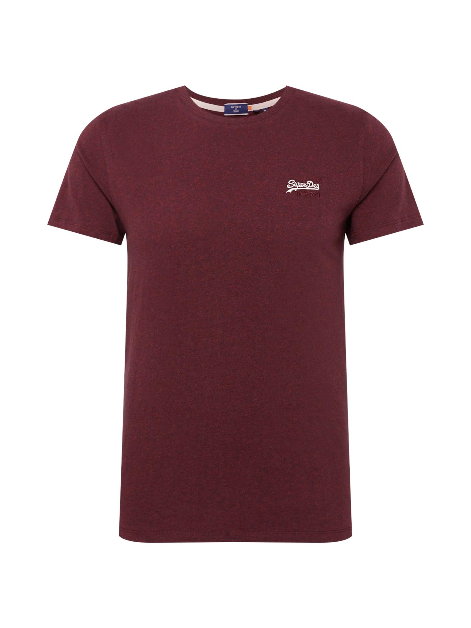 Superdry Marškinėliai burgundiško vyno spalva