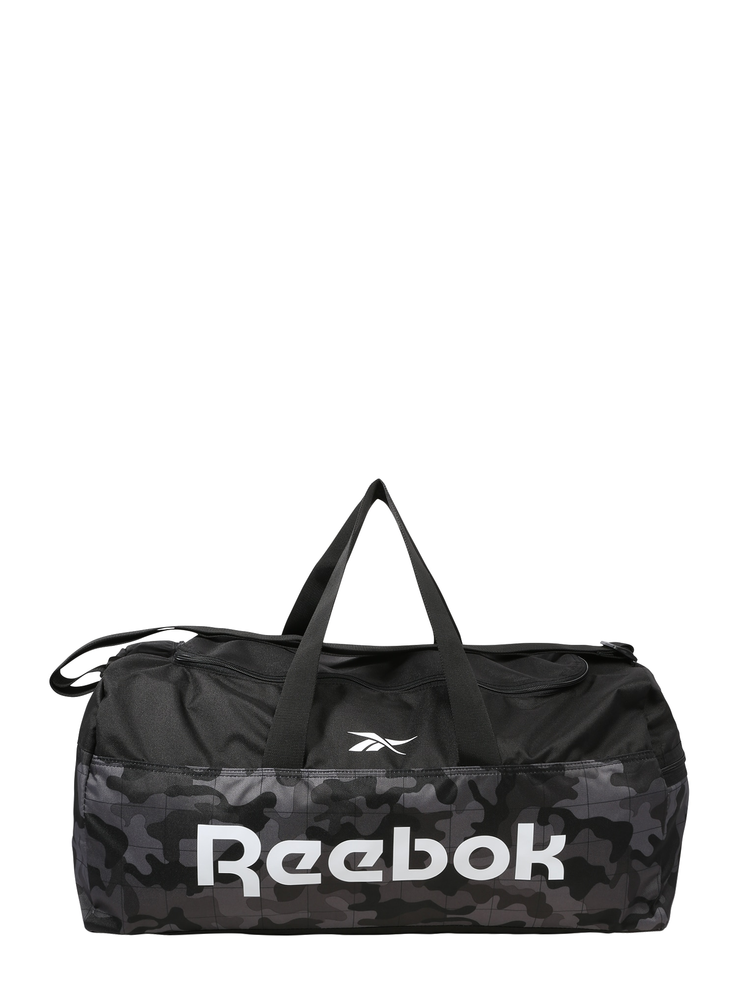 REEBOK Sportovní taška  šedý melír / bílá / černý melír / antracitová