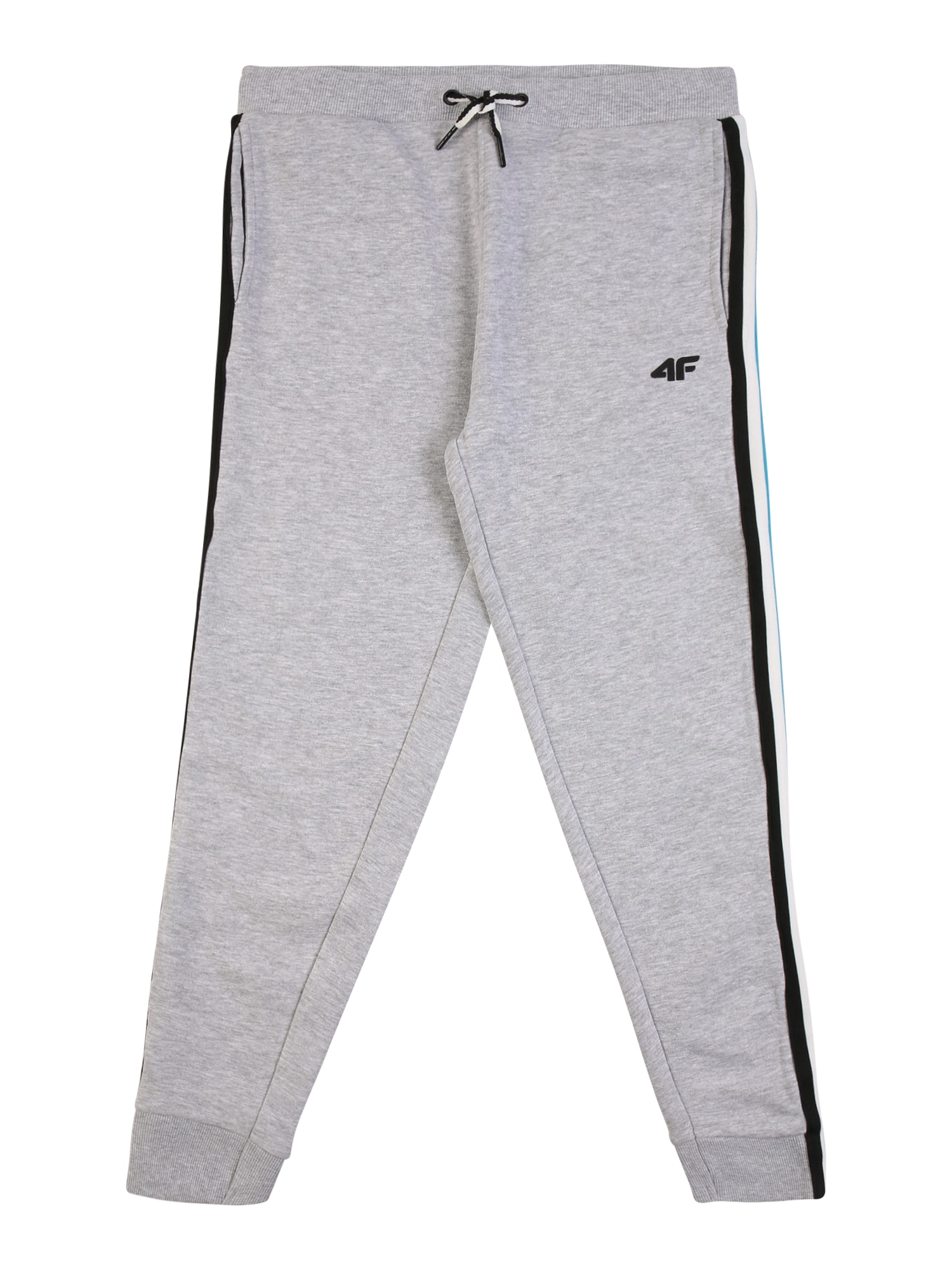 4F Sportinės kelnės margai pilka / juoda / balta / vandens spalva / geltona