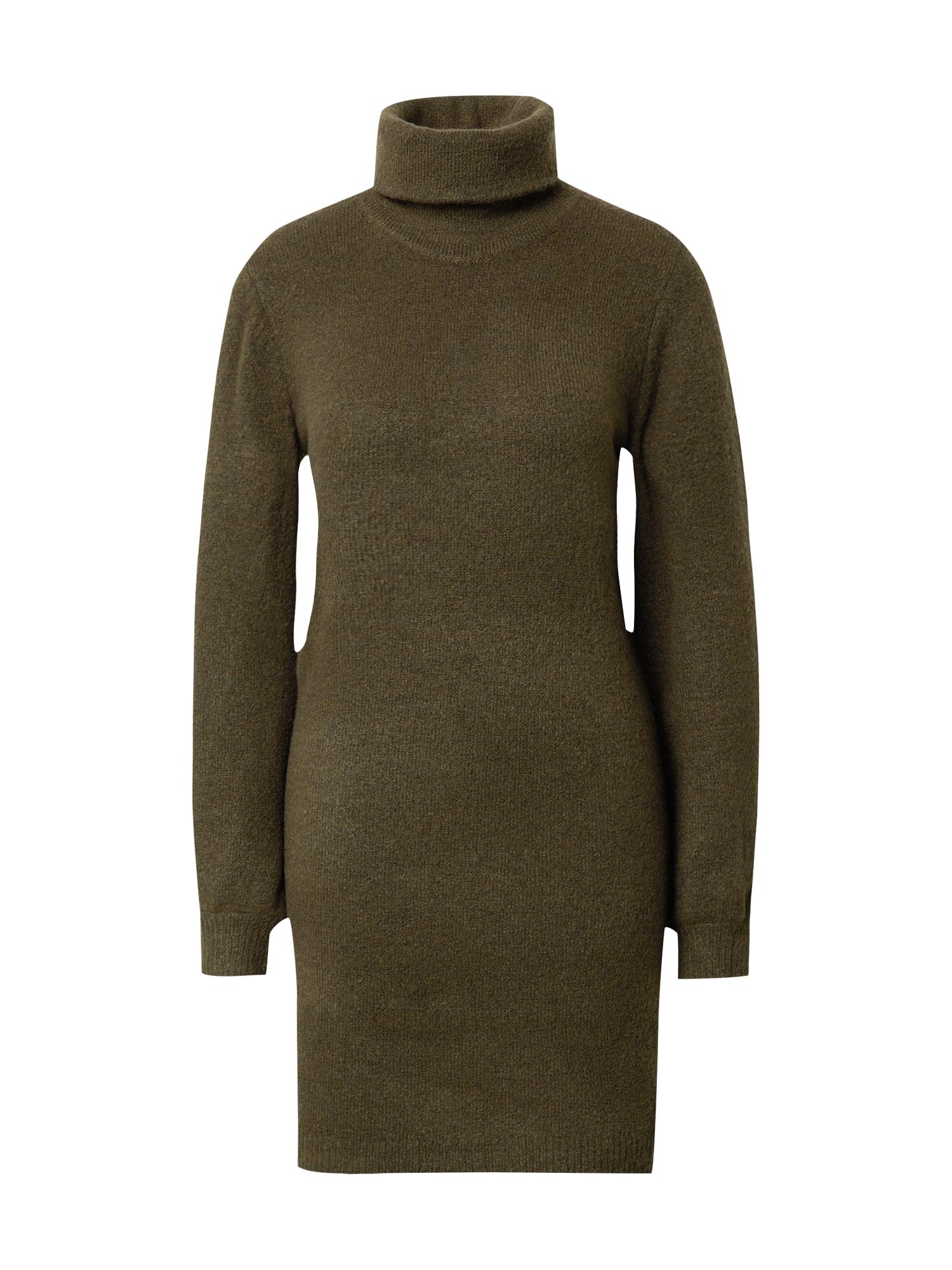 OBJECT Úpletové šaty 'Eve Nonsia'  tmavě zelená