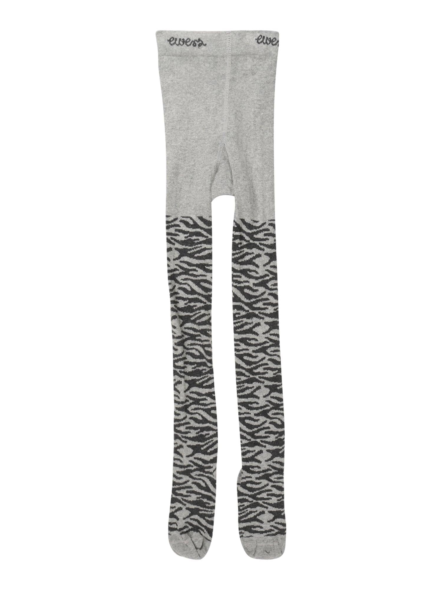 EWERS Punčocháče  šedý melír / černá