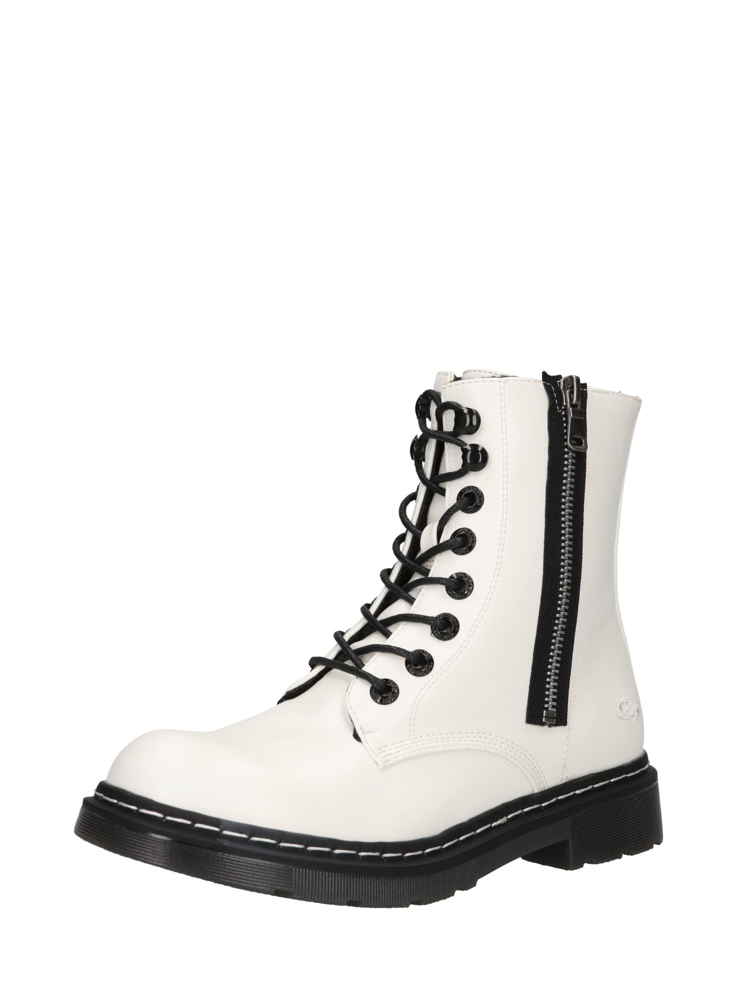 Dockers by Gerli Šněrovací boty  bílá / černá