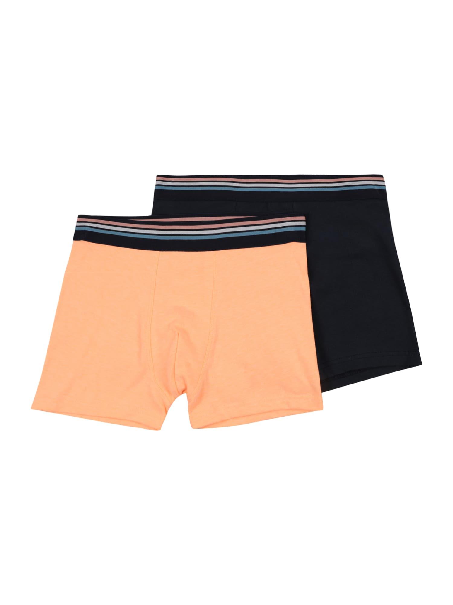 SANETTA Apatinės kelnaitės šviesiai oranžinė / tamsiai mėlyna jūros spalva