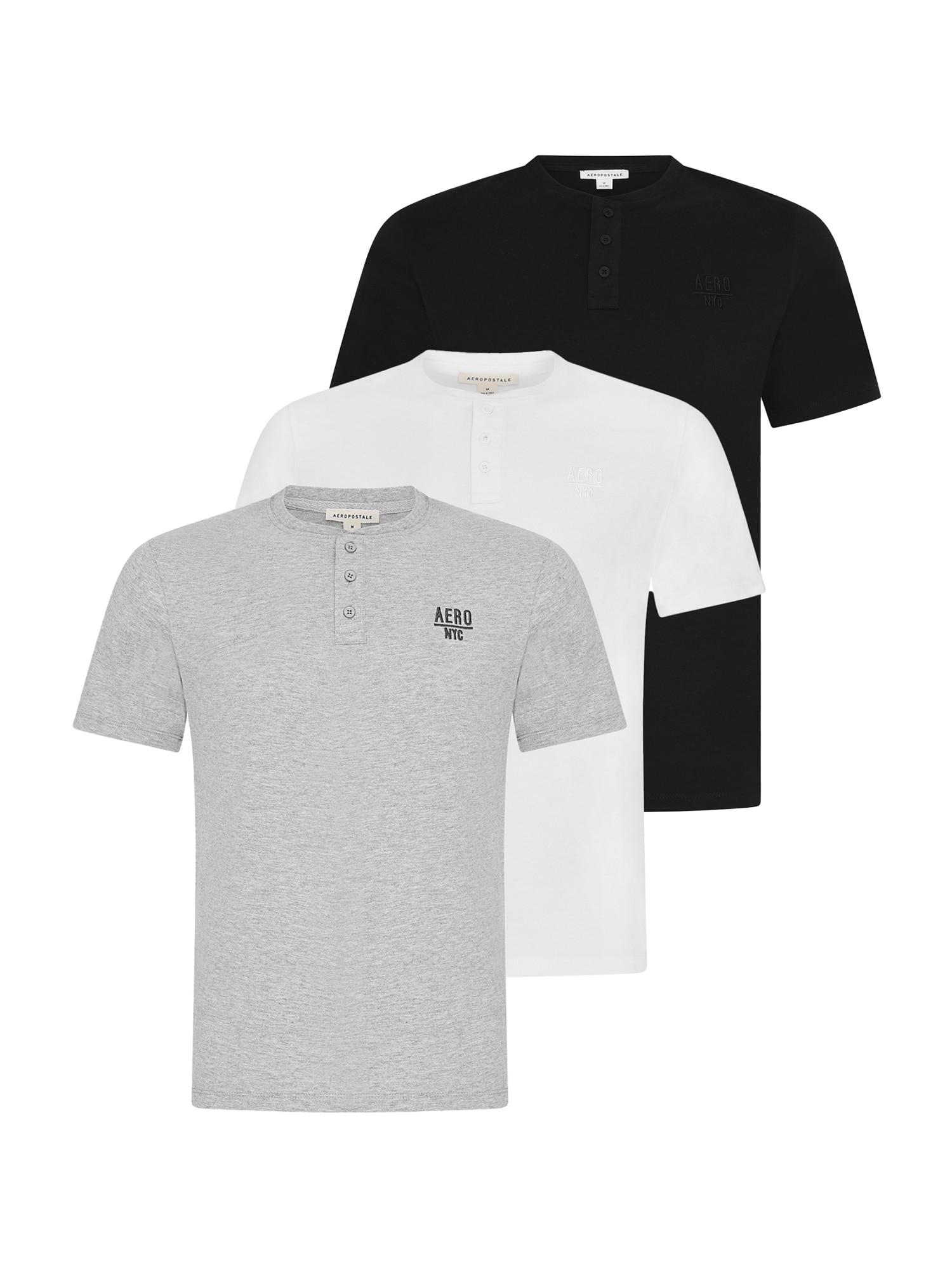 AÈROPOSTALE Marškinėliai pilka / juoda / balta
