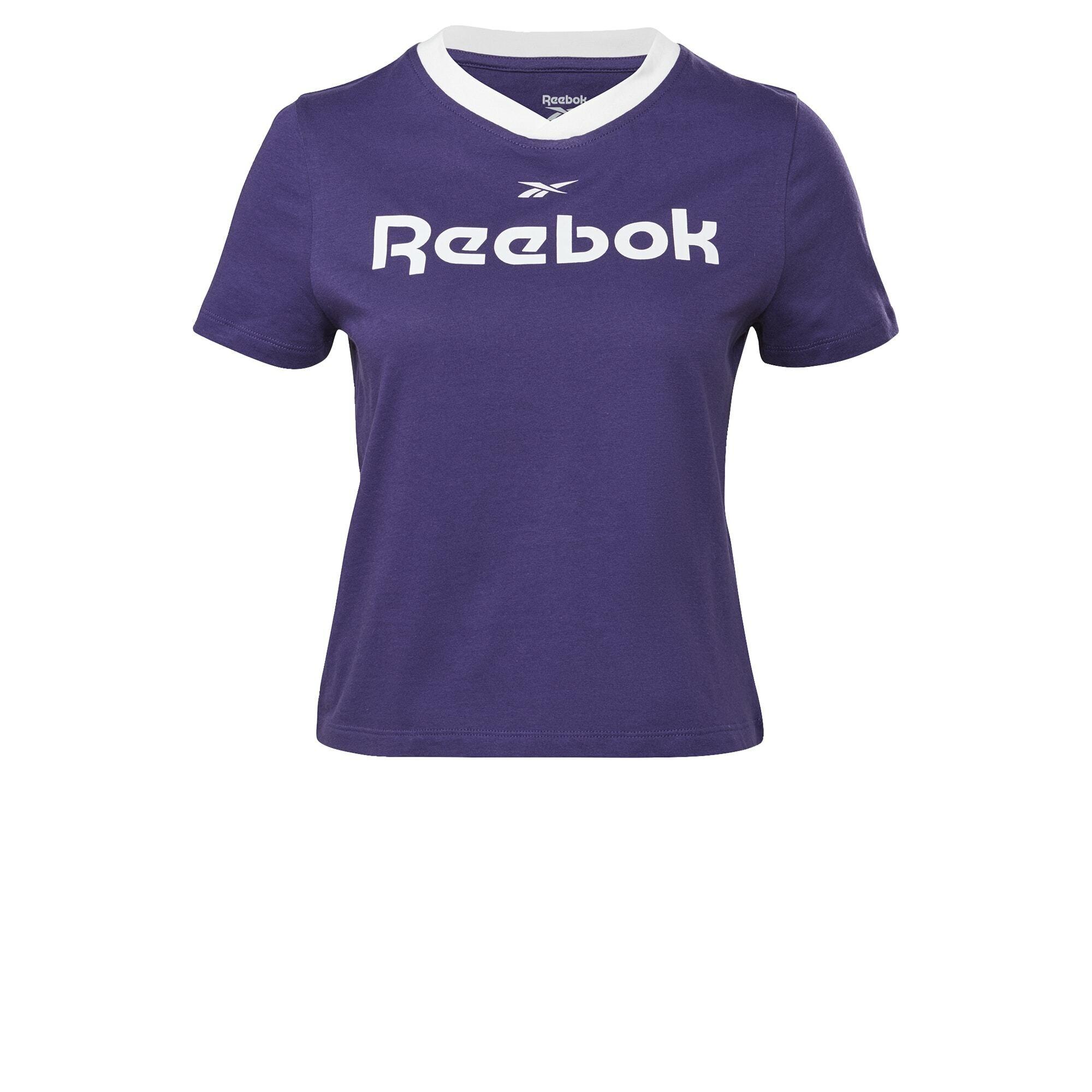 Reebok Classic Marškinėliai balta / tamsiai violetinė