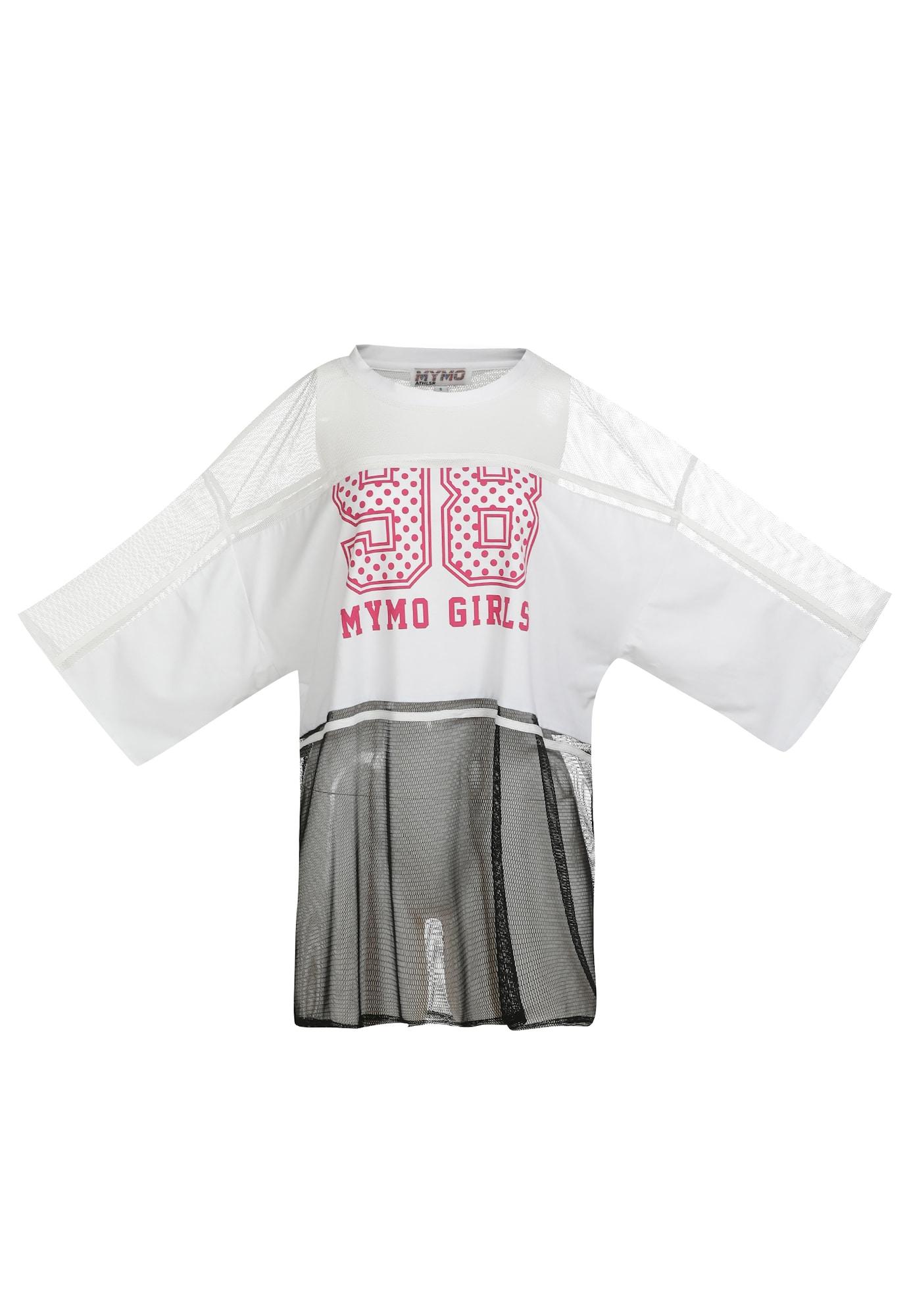 myMo ATHLSR Sportiniai marškinėliai balta / juoda / rožinė