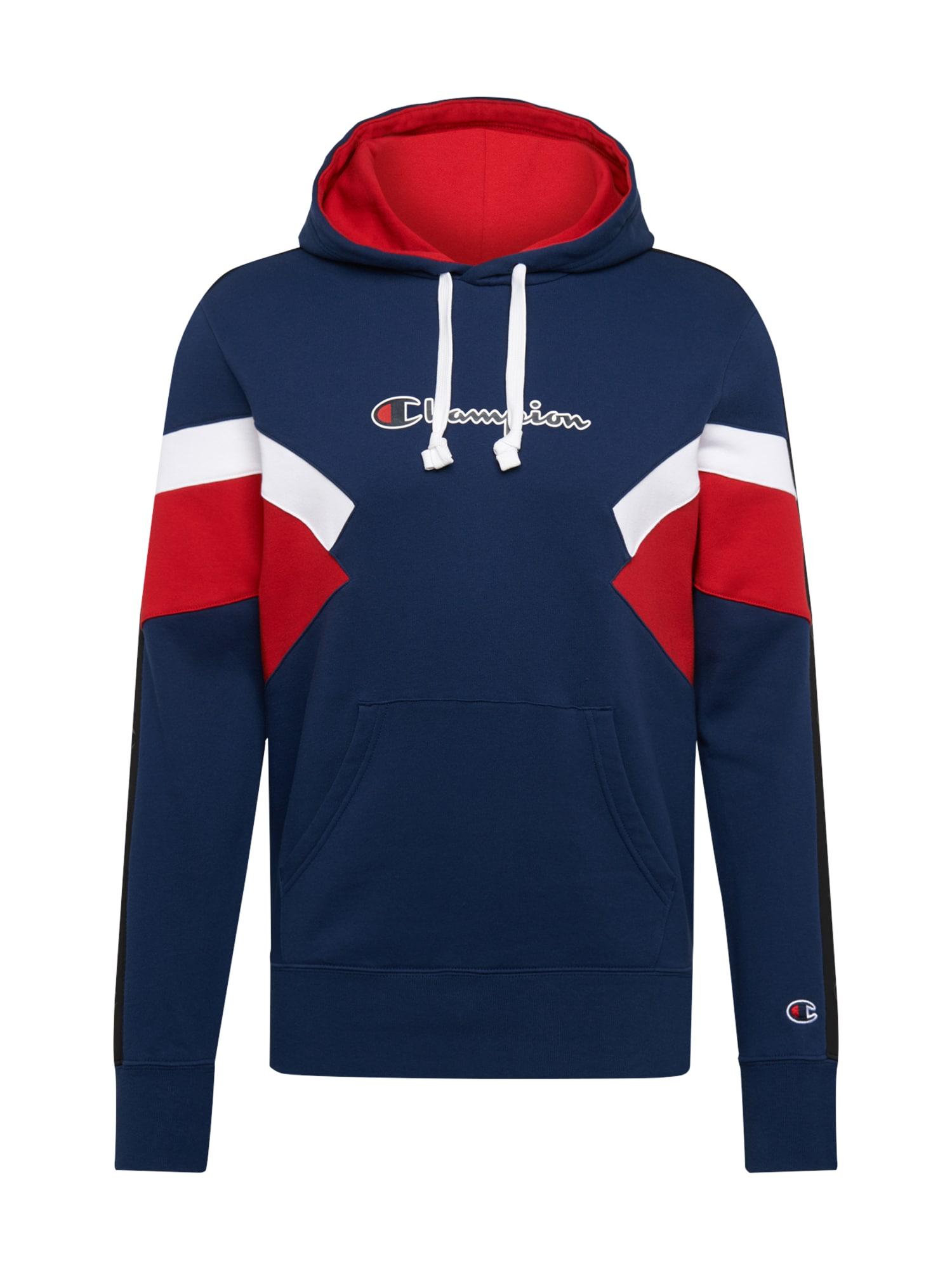 Champion Authentic Athletic Apparel Megztinis be užsegimo balta / tamsiai mėlyna / raudona