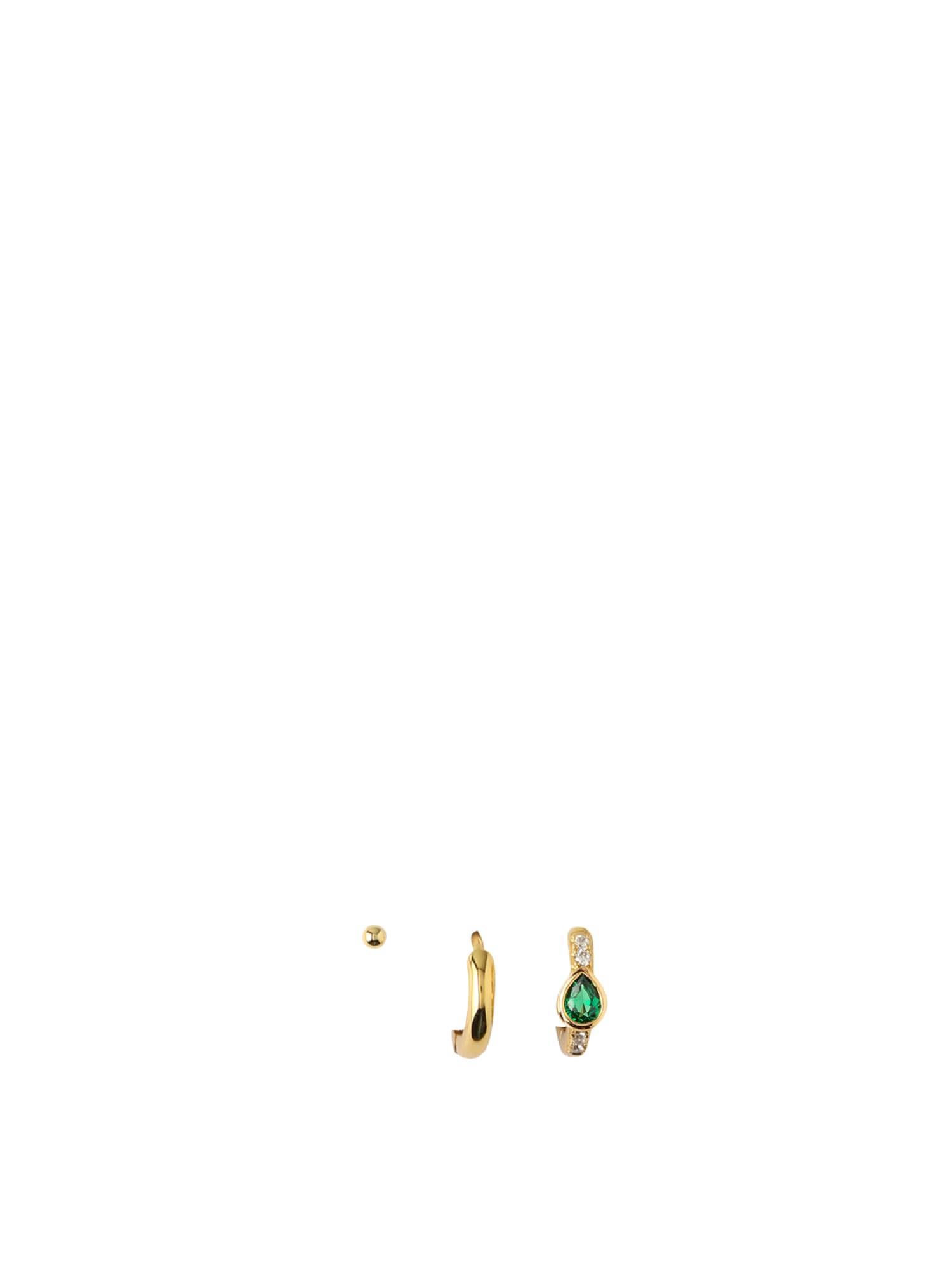 Orelia Náušnice  zelená