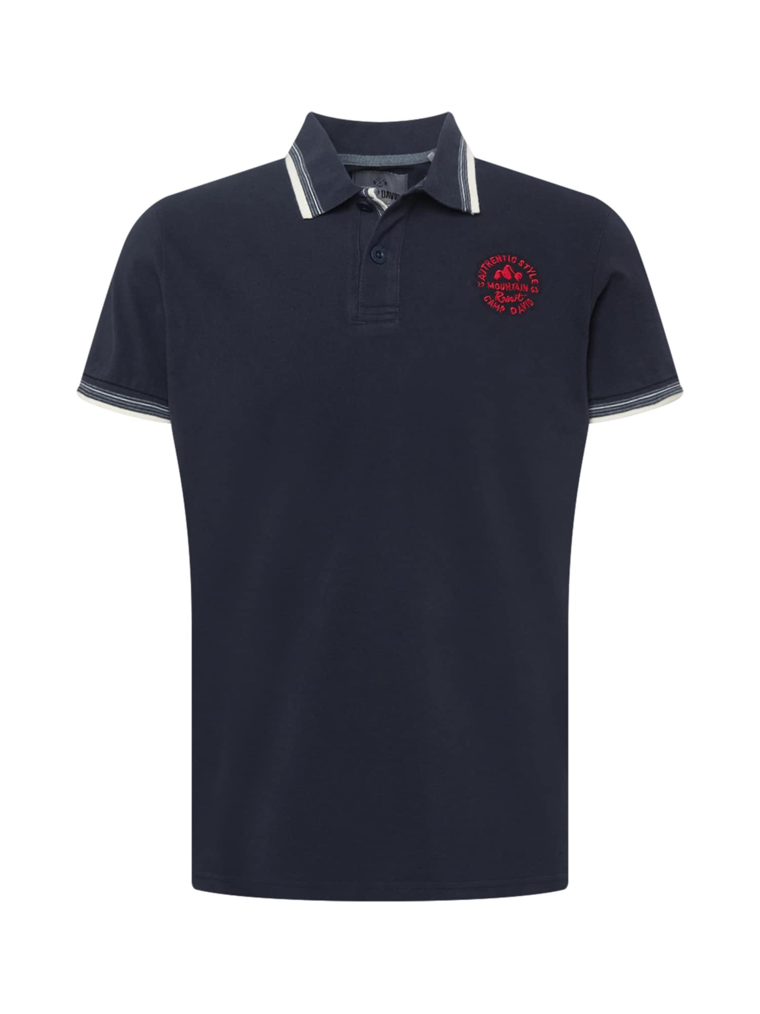 CAMP DAVID Tričko  námořnická modř / ohnivá červená / bílá