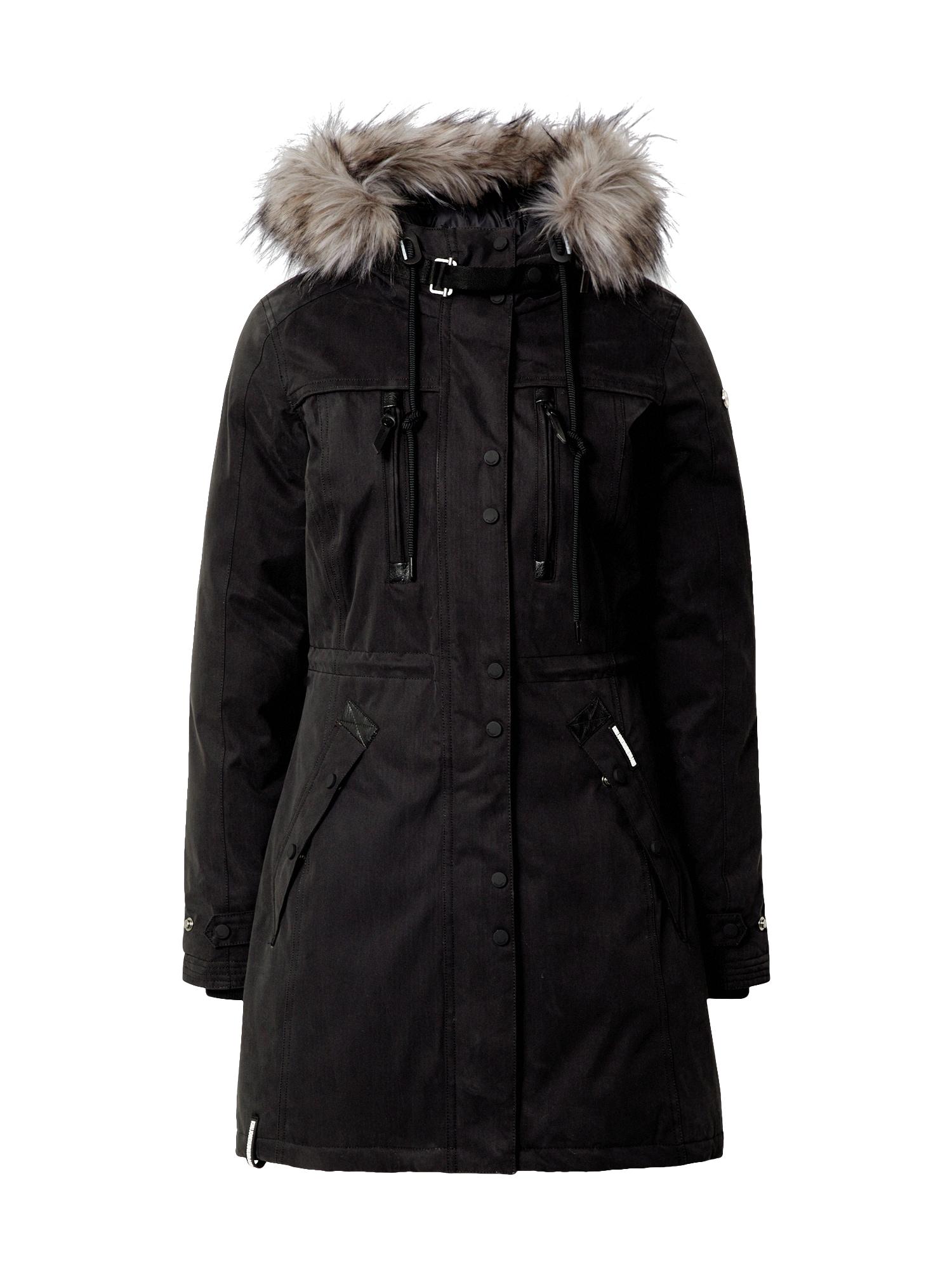 khujo Žieminis paltas juoda