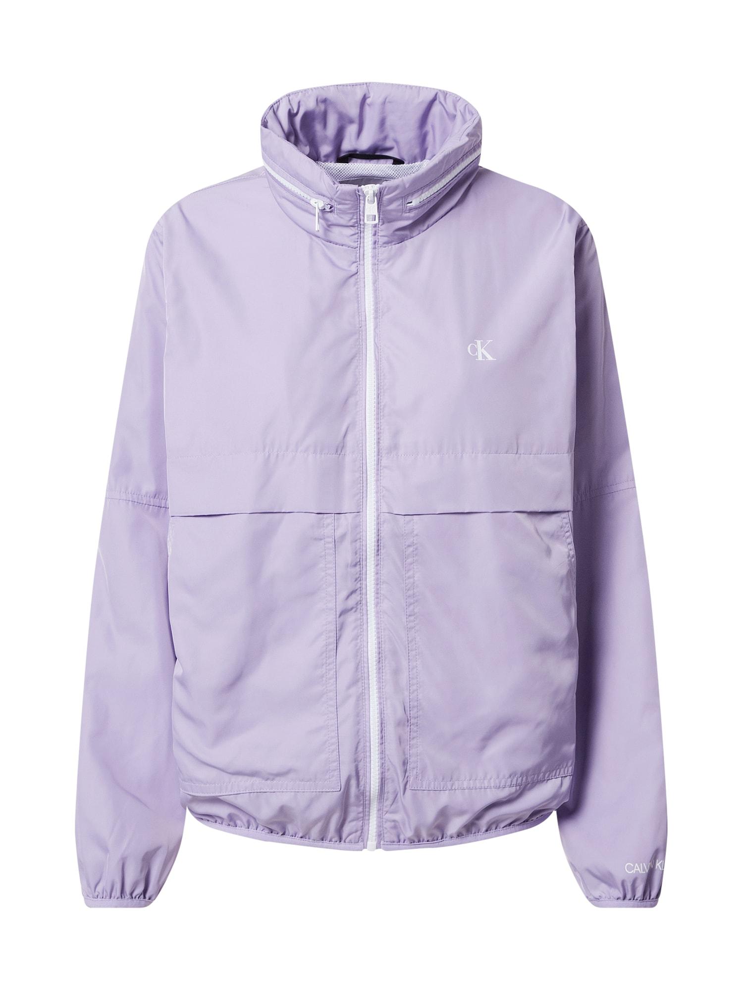 Calvin Klein Jeans Demisezoninė striukė levandų spalva