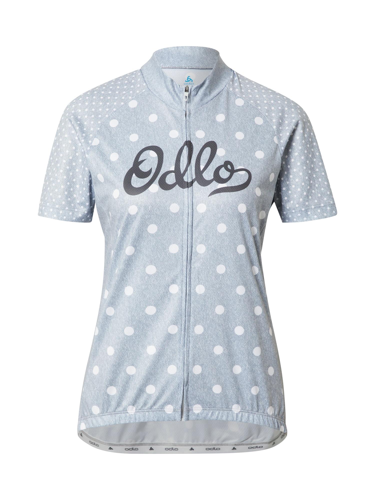 ODLO Sportiniai marškinėliai šviesiai pilka / balta / nakties mėlyna