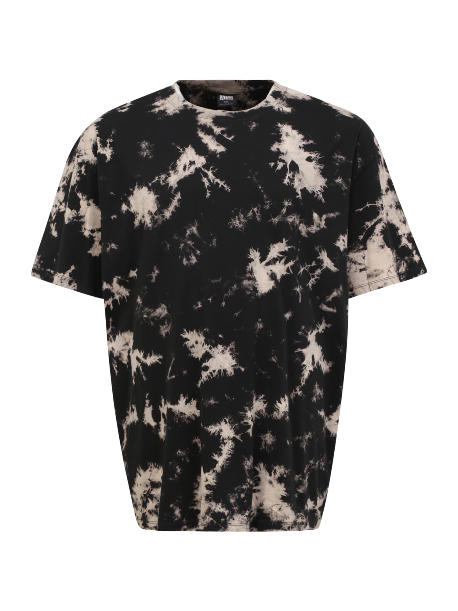 Urban Classics Plus Size Marškinėliai juoda / kūno spalva