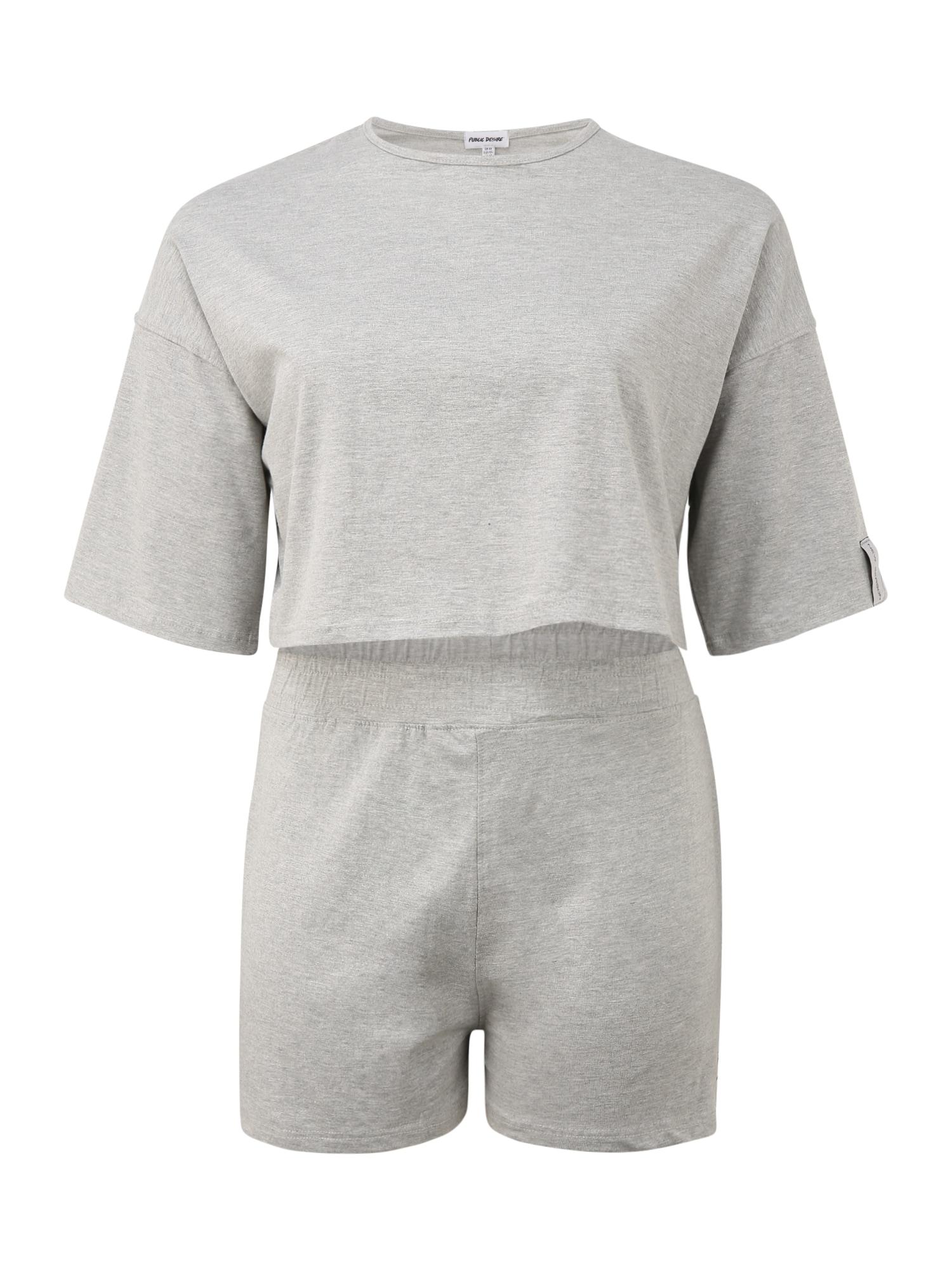 Public Desire Curve Pižama su šortais šviesiai pilka