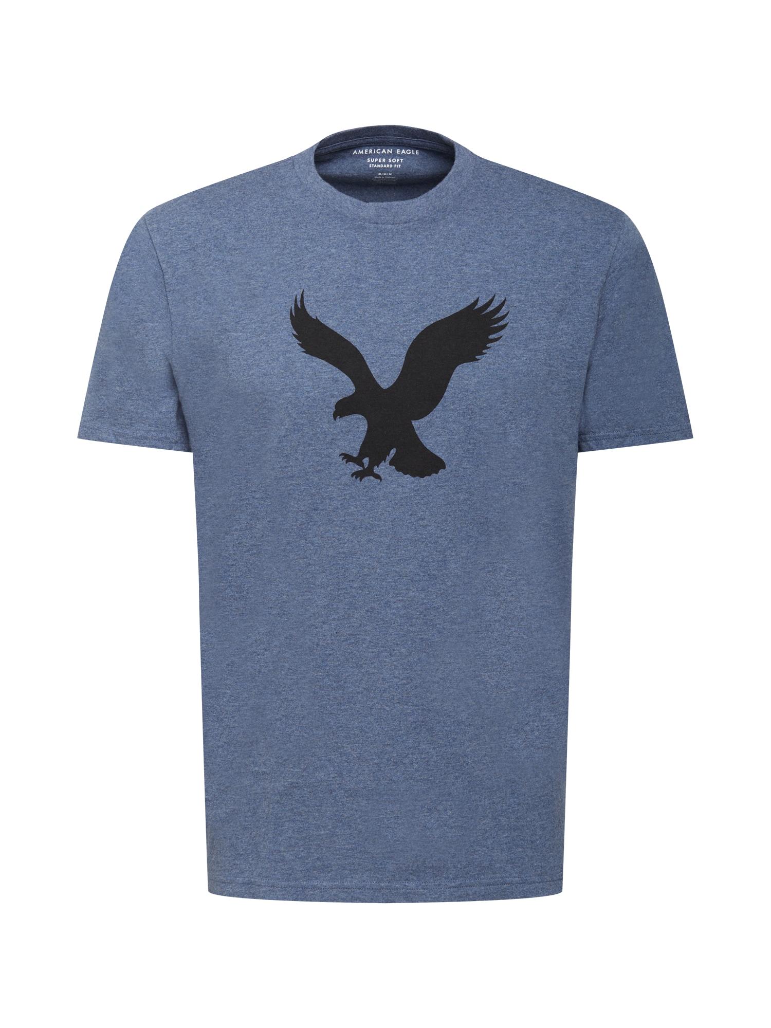 American Eagle Marškinėliai margai mėlyna / juoda