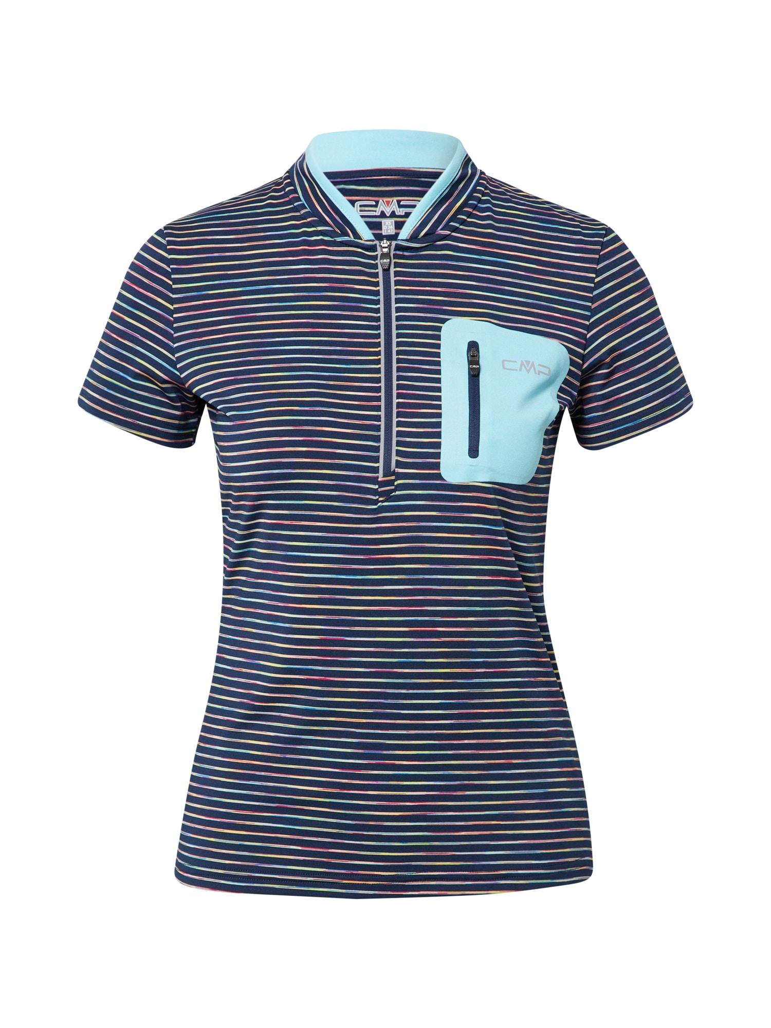 CMP Funkční tričko  námořnická modř / světlemodrá / šedá / mix barev