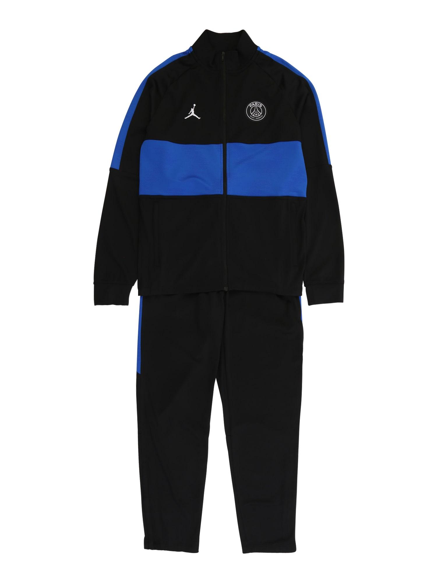 Jordan Sportinis kostiumas juoda / mėlyna