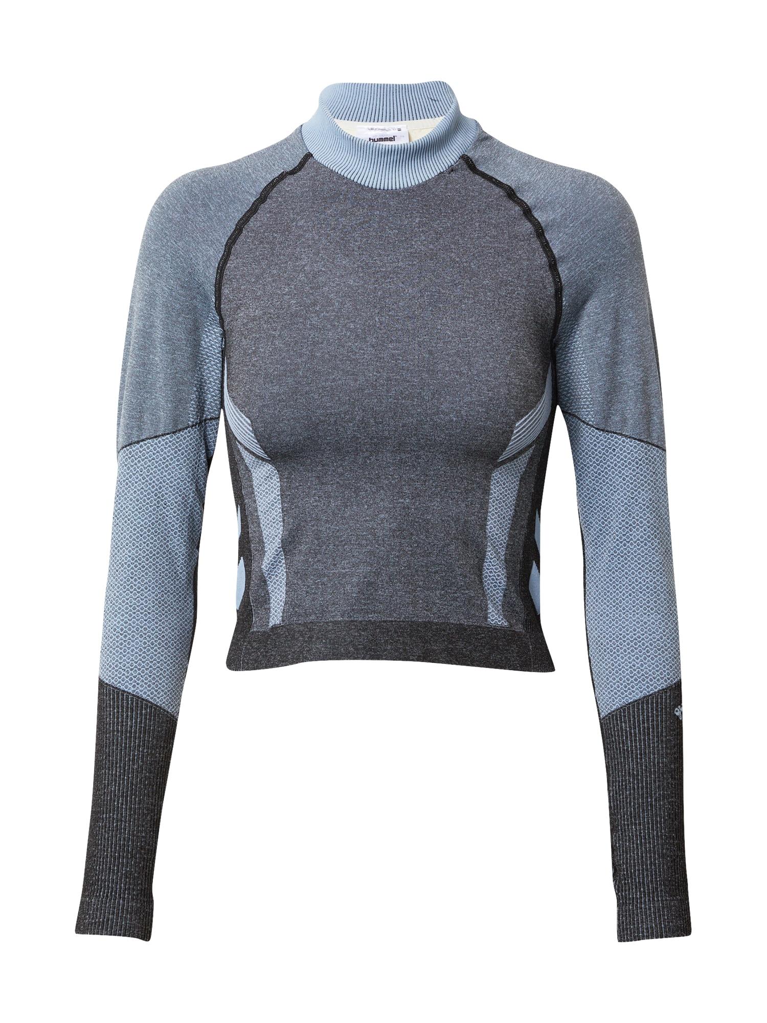 Hummel Sportiniai marškinėliai juoda / melsvai pilka / smėlio