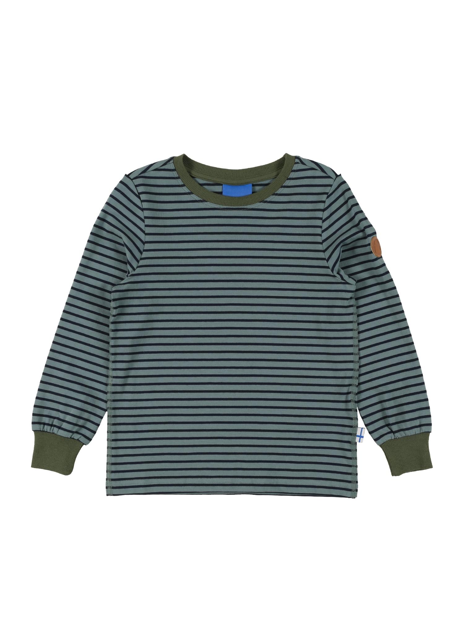 FINKID Marškinėliai šviesiai žalia / nakties mėlyna / rusvai žalia