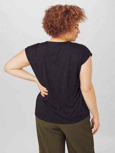 Vero Moda Curve Carrie Scalloped Kurzarm T-Shirt mit V-Ausschnitt