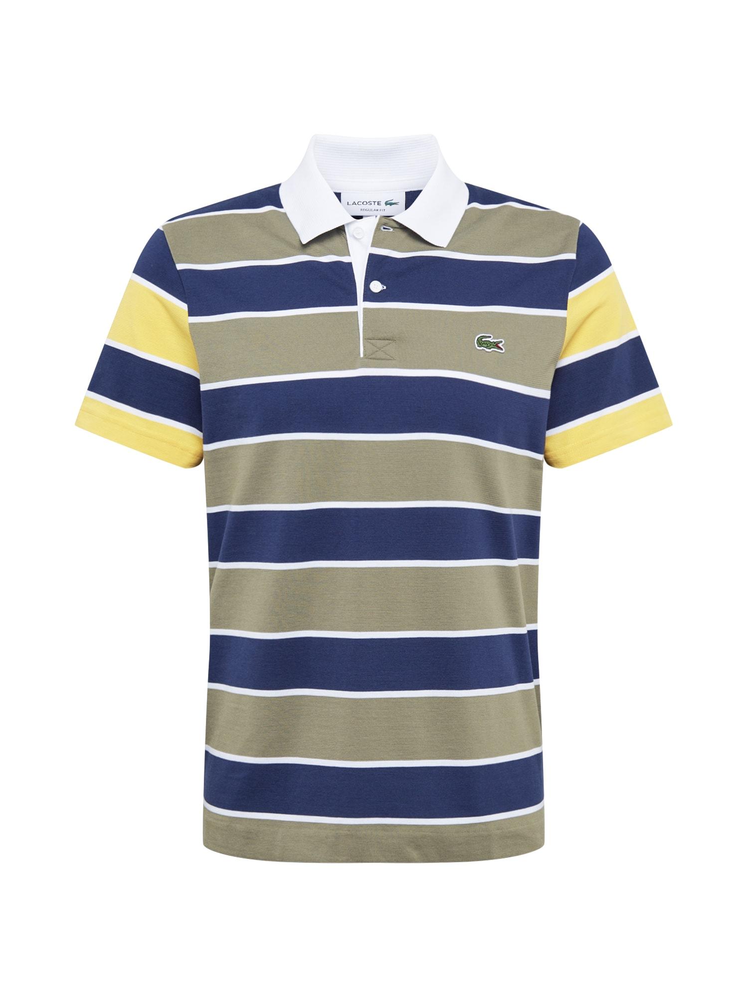 LACOSTE Marškinėliai mišrios spalvos / tamsiai mėlyna / balta / geltona / rusvai žalia